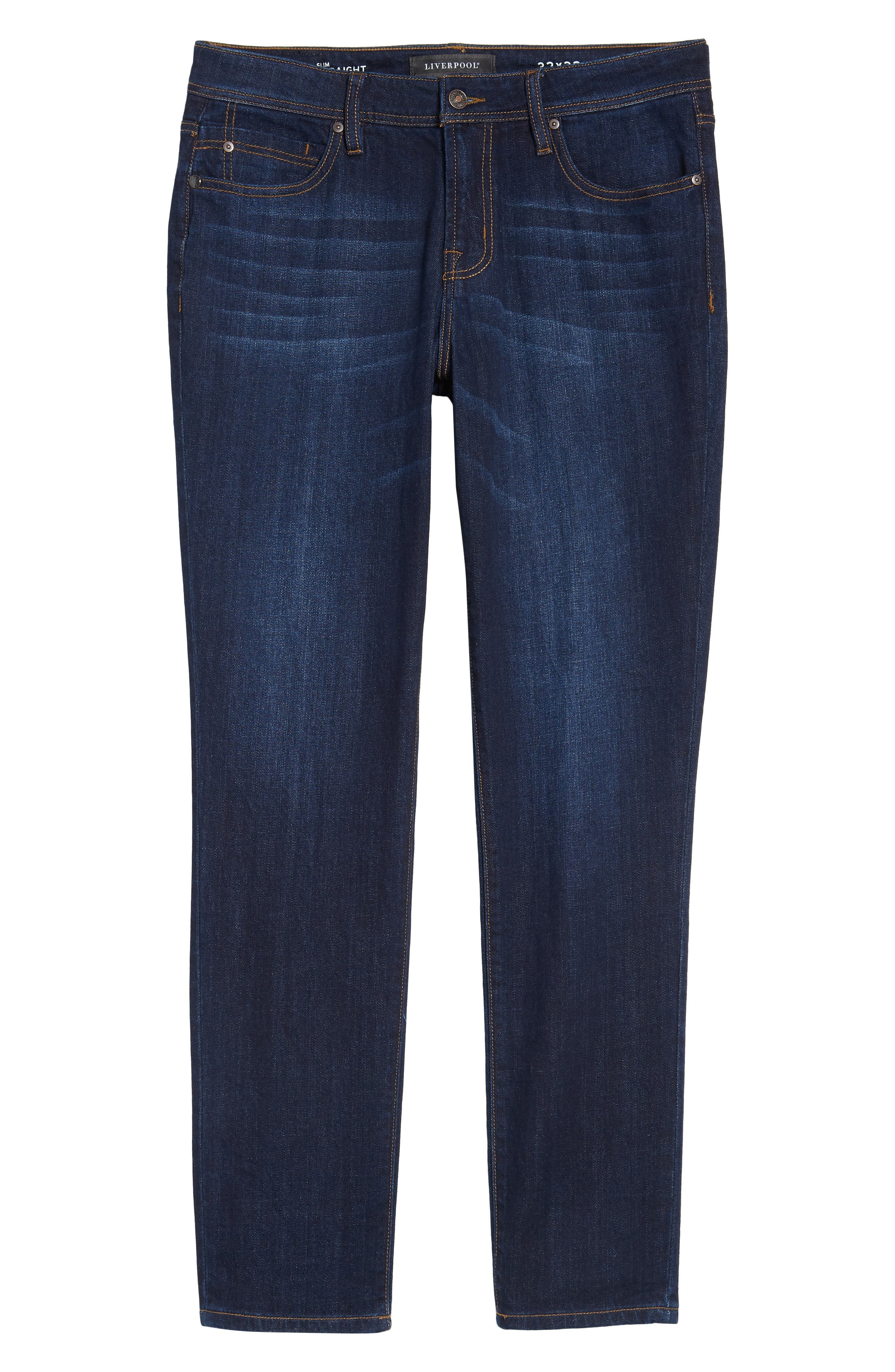 Jeans Co. Kingston Slim Straight Leg Jeans,                             Alternate thumbnail 6, color,                             SAN ARDO VINTAGE DARK