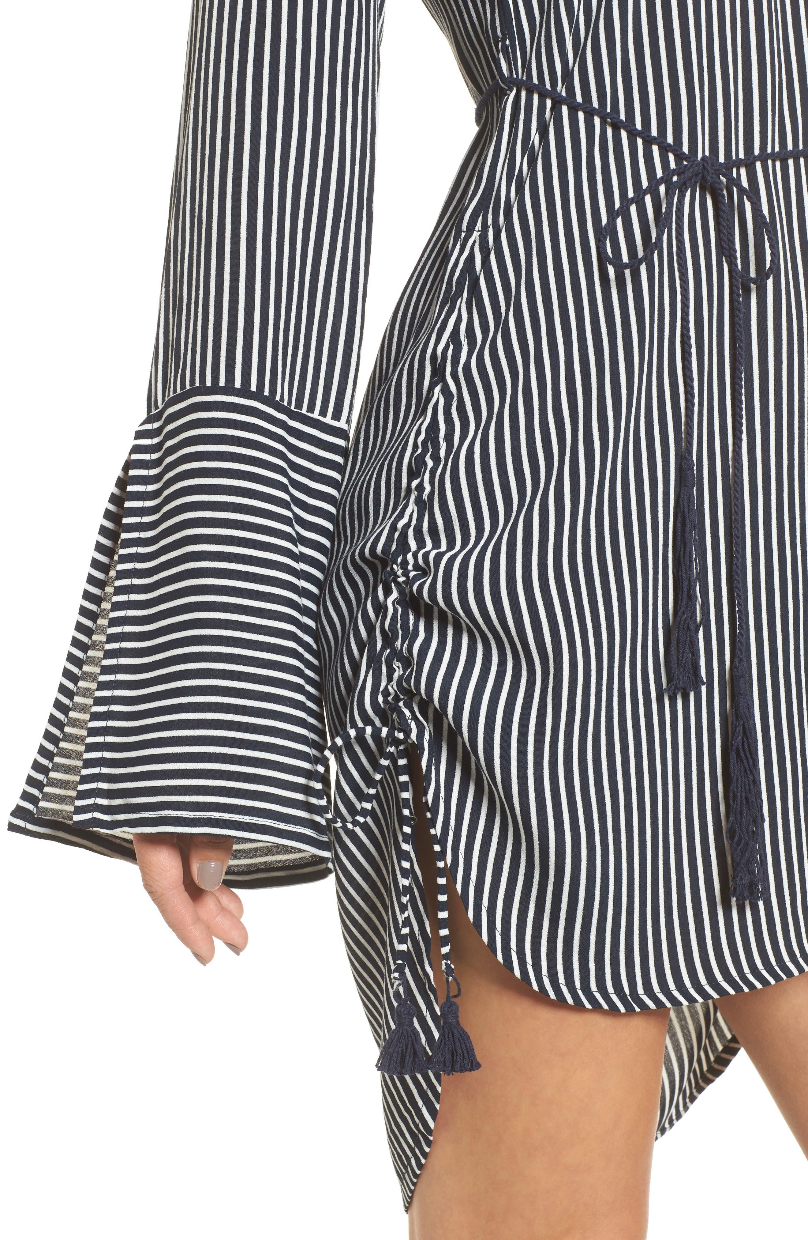 Neroli Stripe Dress,                             Alternate thumbnail 4, color,                             400