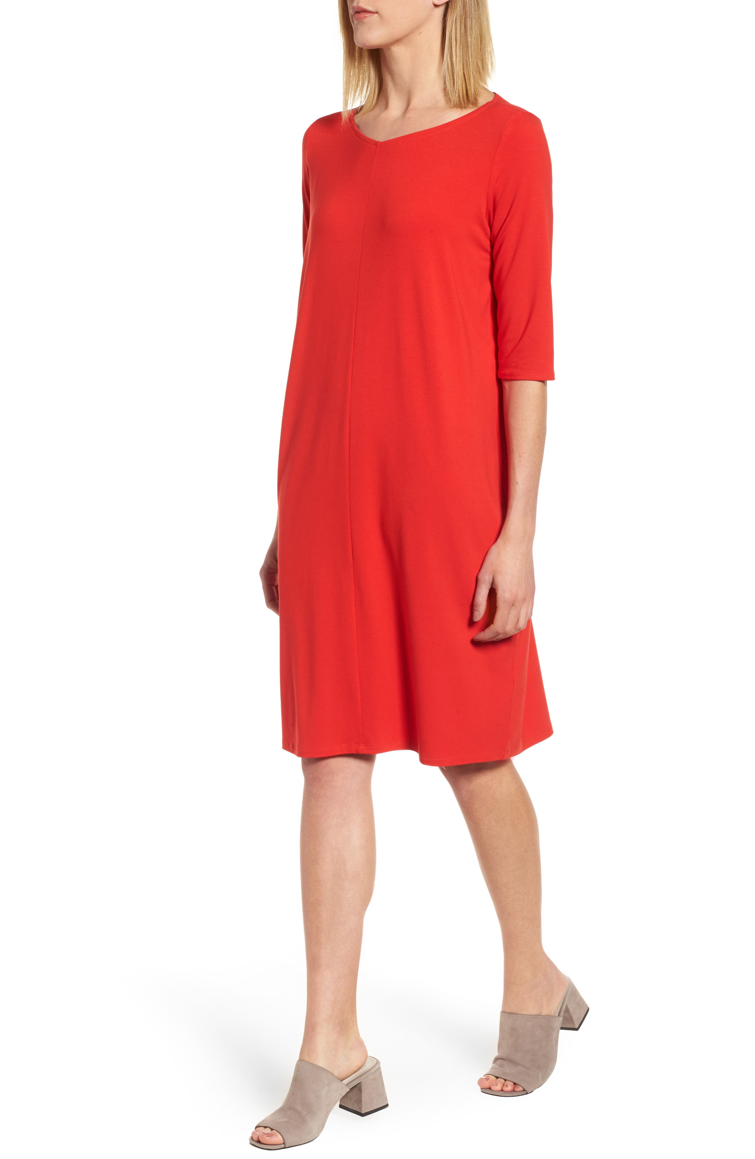Jersey Shift Dress,                             Main thumbnail 3, color,