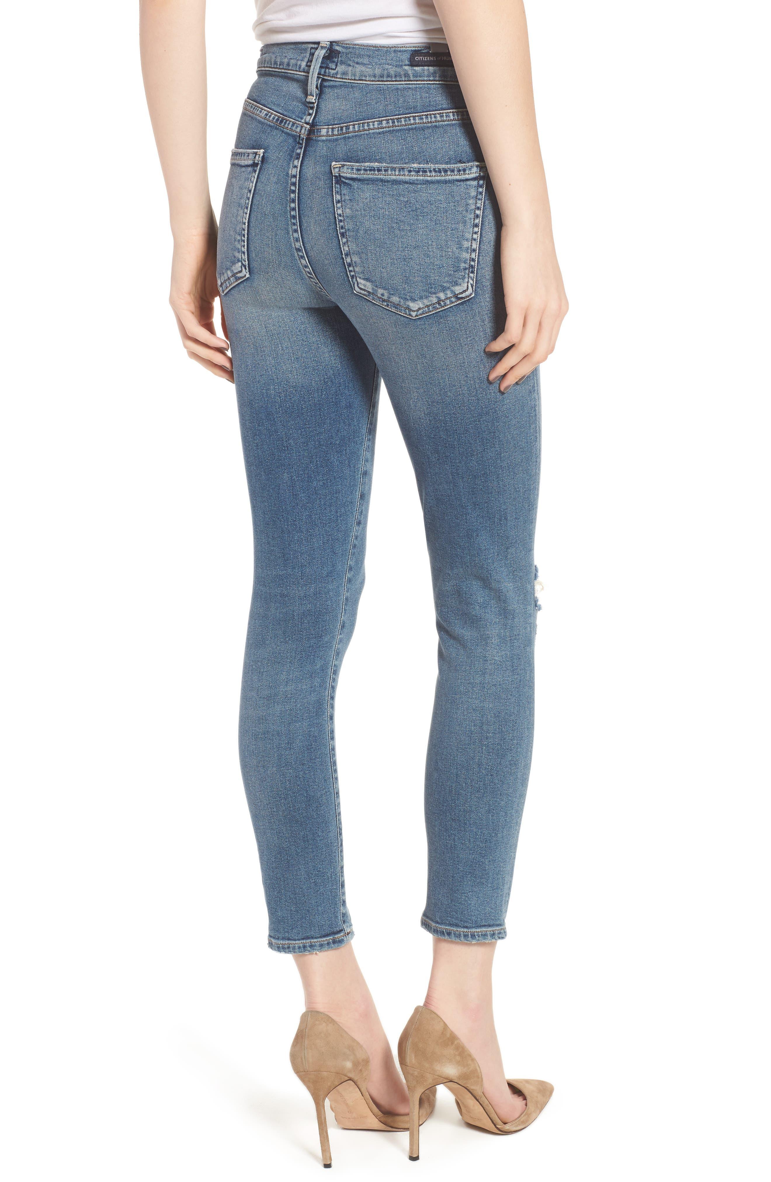 Rocket High Waist Crop Skinny Jeans,                             Alternate thumbnail 2, color,                             427