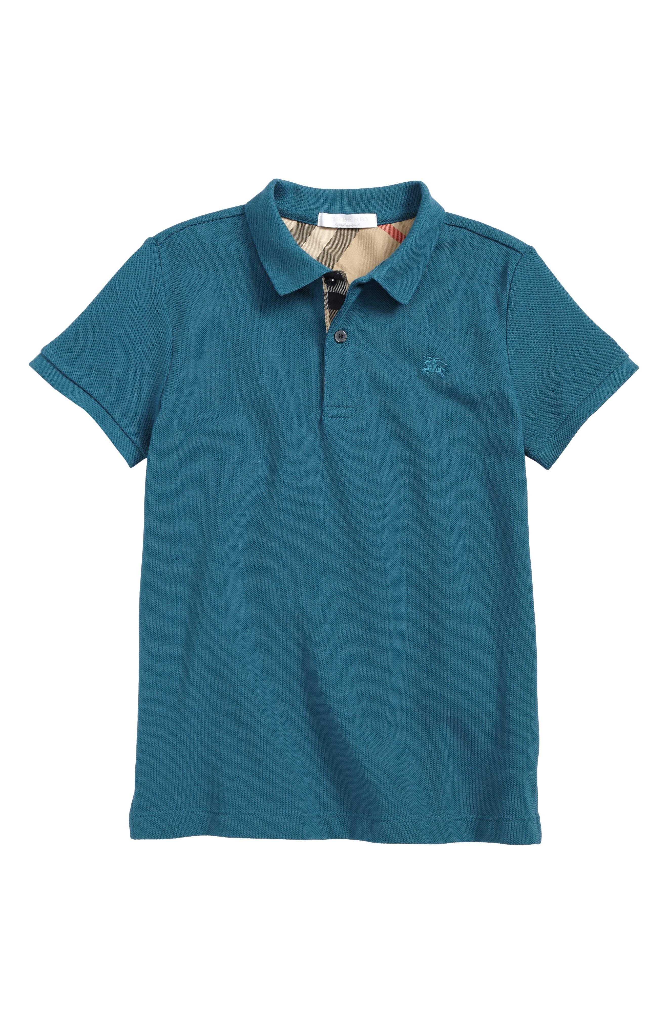 Mini Cotton Piqué Polo,                             Main thumbnail 2, color,