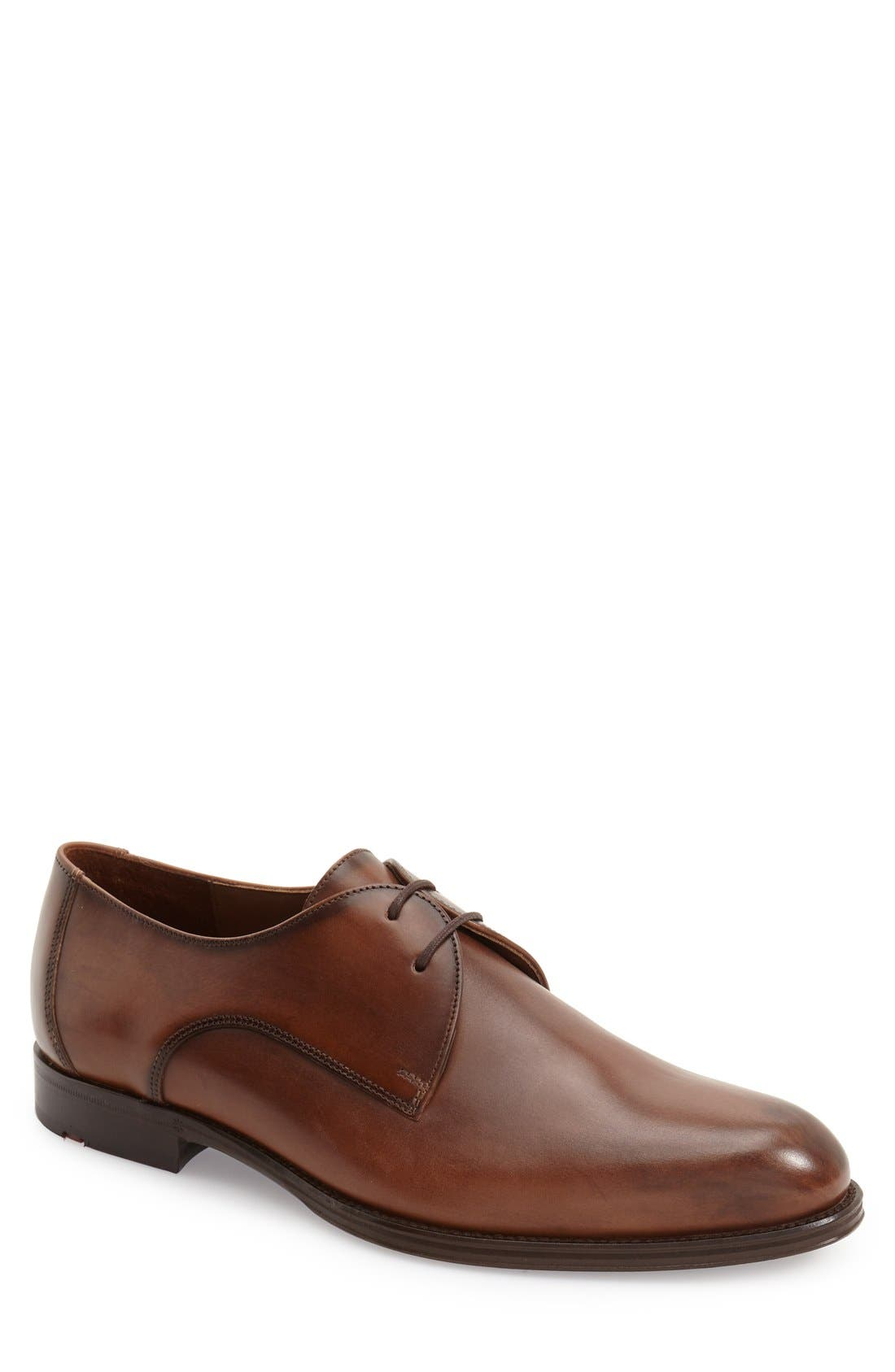 'Monza' Plain Toe Derby,                         Main,                         color,