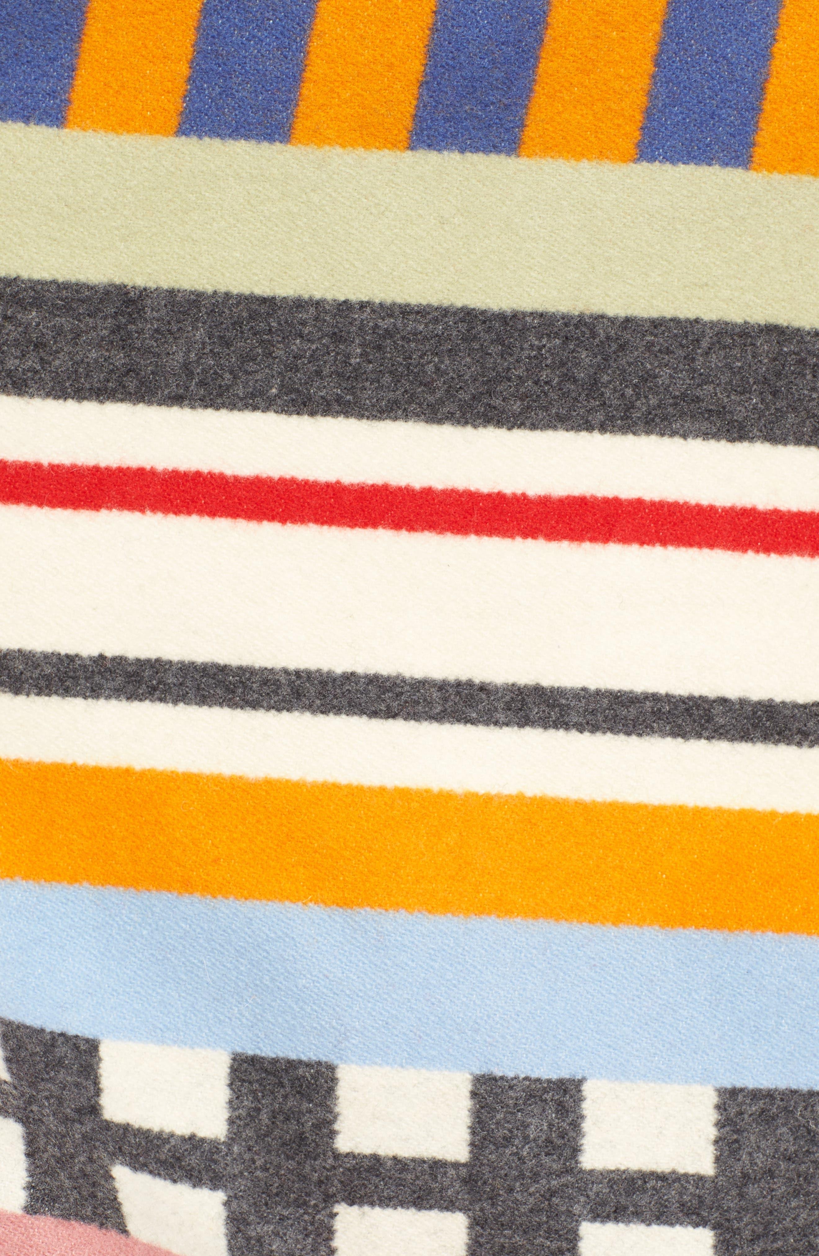 x Pendleton Wool Blend Hooded Cape,                             Alternate thumbnail 5, color,                             WHITE MULTI