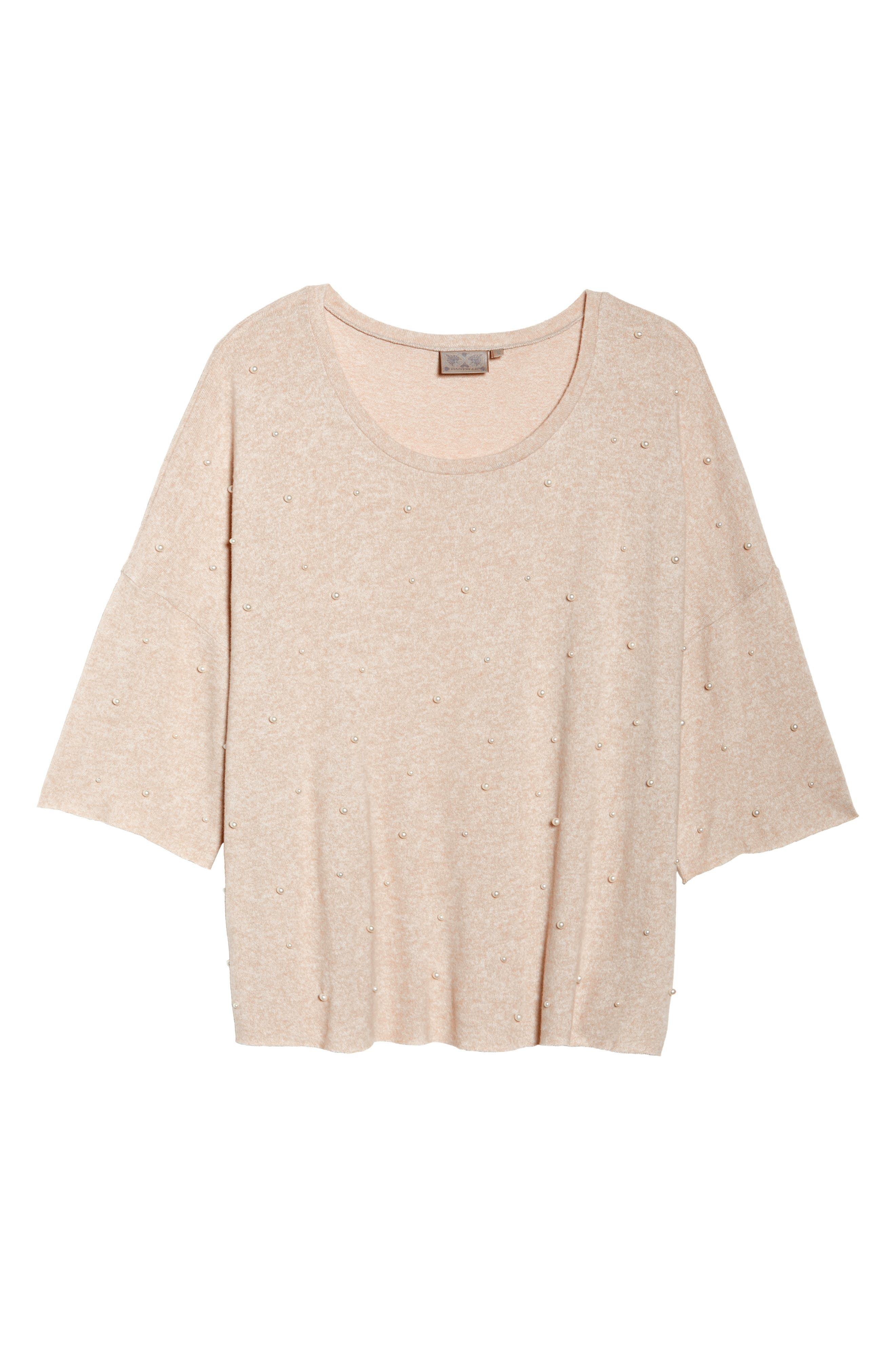 Pearl Embellished Sweater,                             Alternate thumbnail 12, color,
