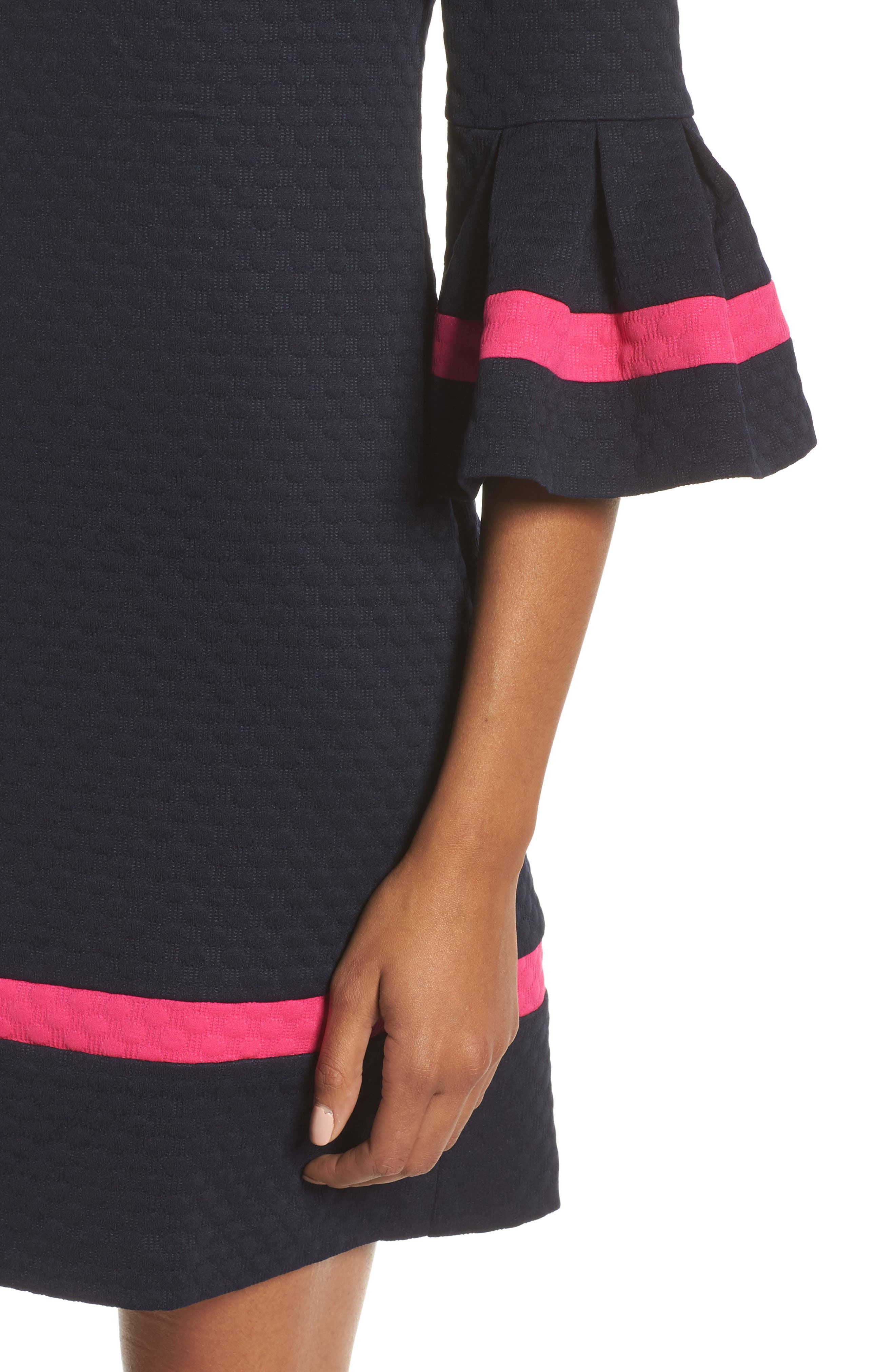 Bell Sleeve Shift Dress,                             Alternate thumbnail 4, color,                             410