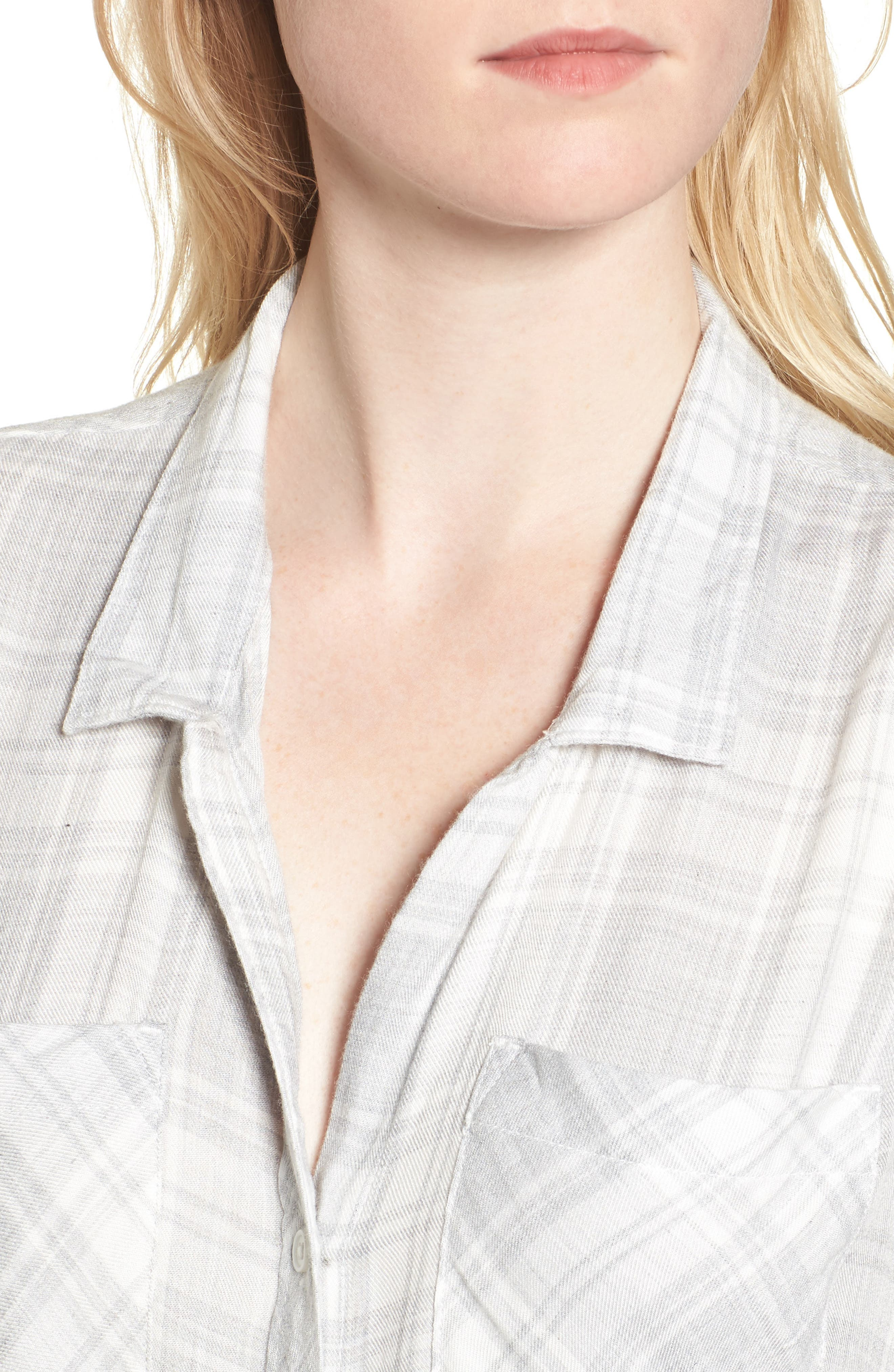 Zoey Plaid Shirt,                             Alternate thumbnail 4, color,                             051
