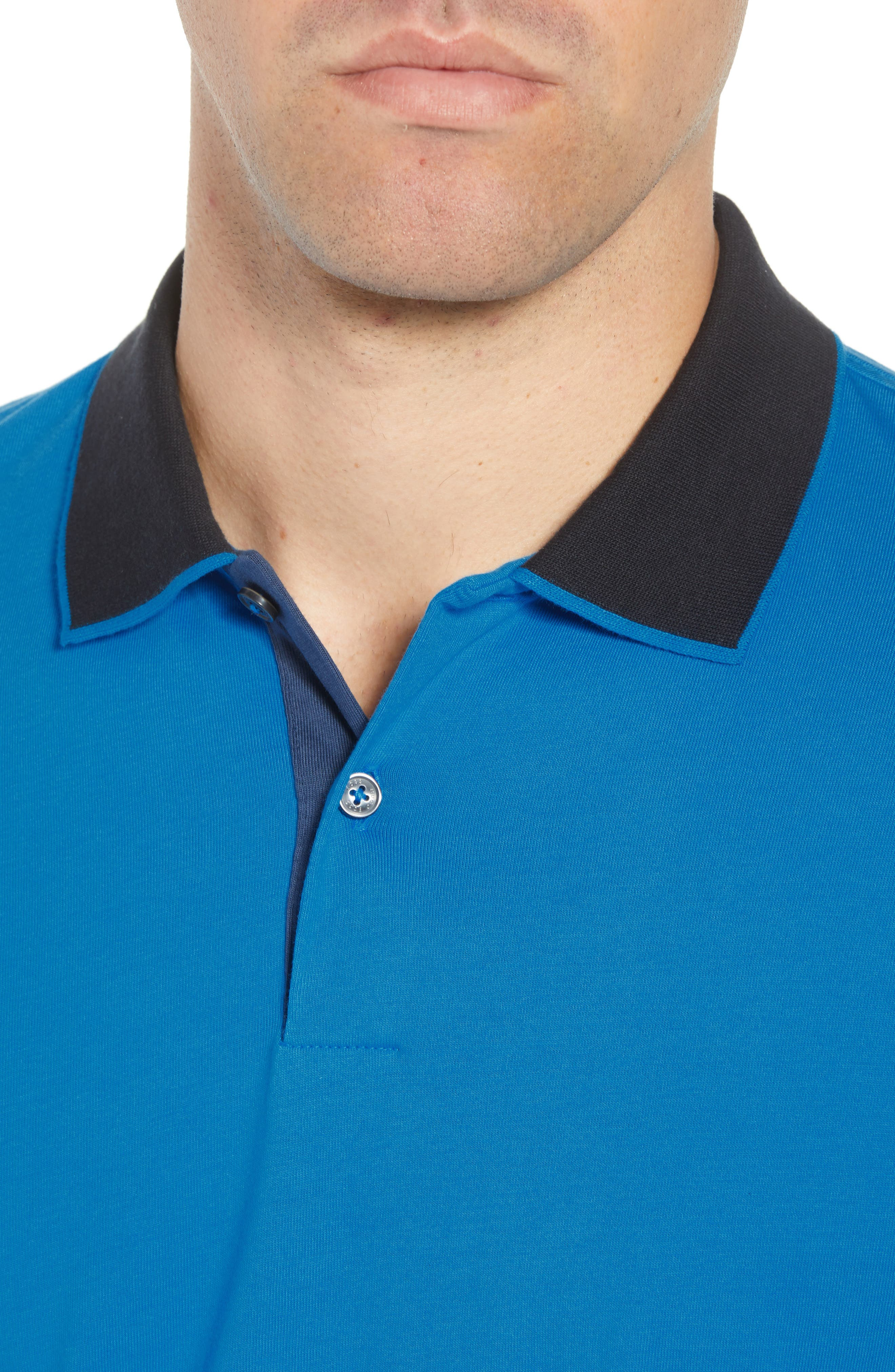Parlay Regular Fit Contrast Polo,                             Alternate thumbnail 4, color,                             BLUE
