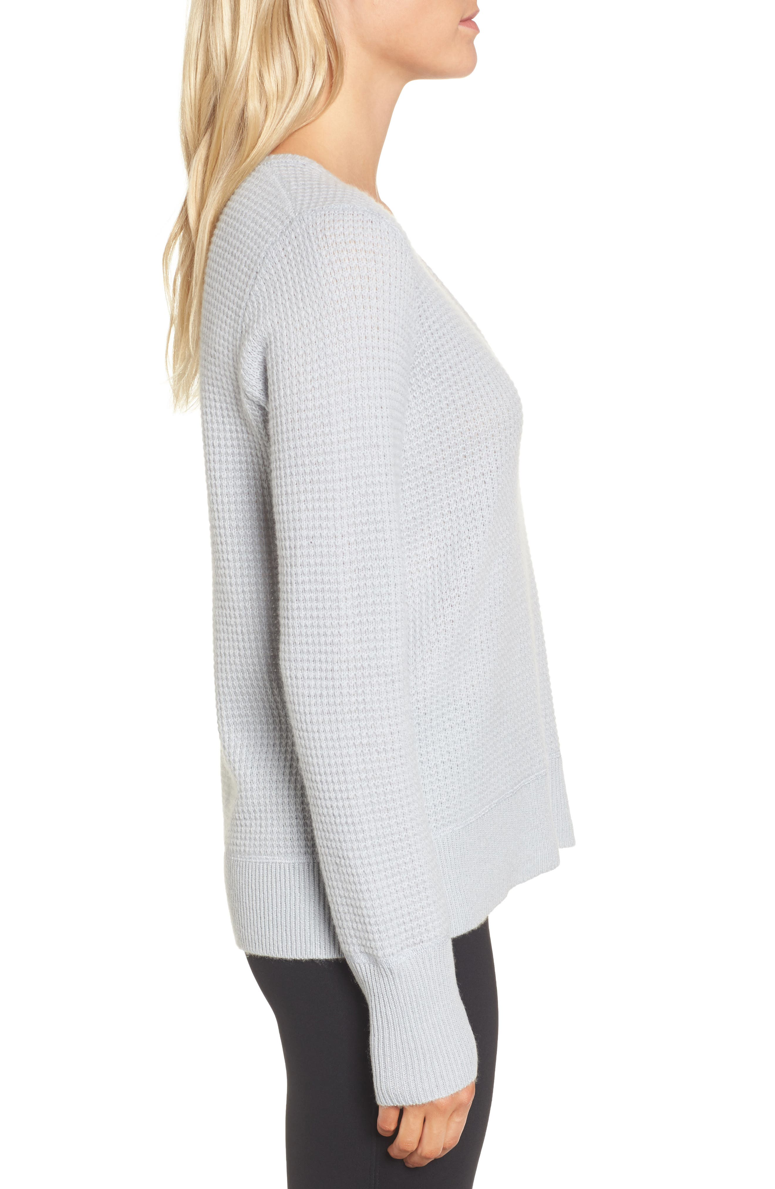 Cashmere Thermal Sweater,                             Alternate thumbnail 3, color,                             456