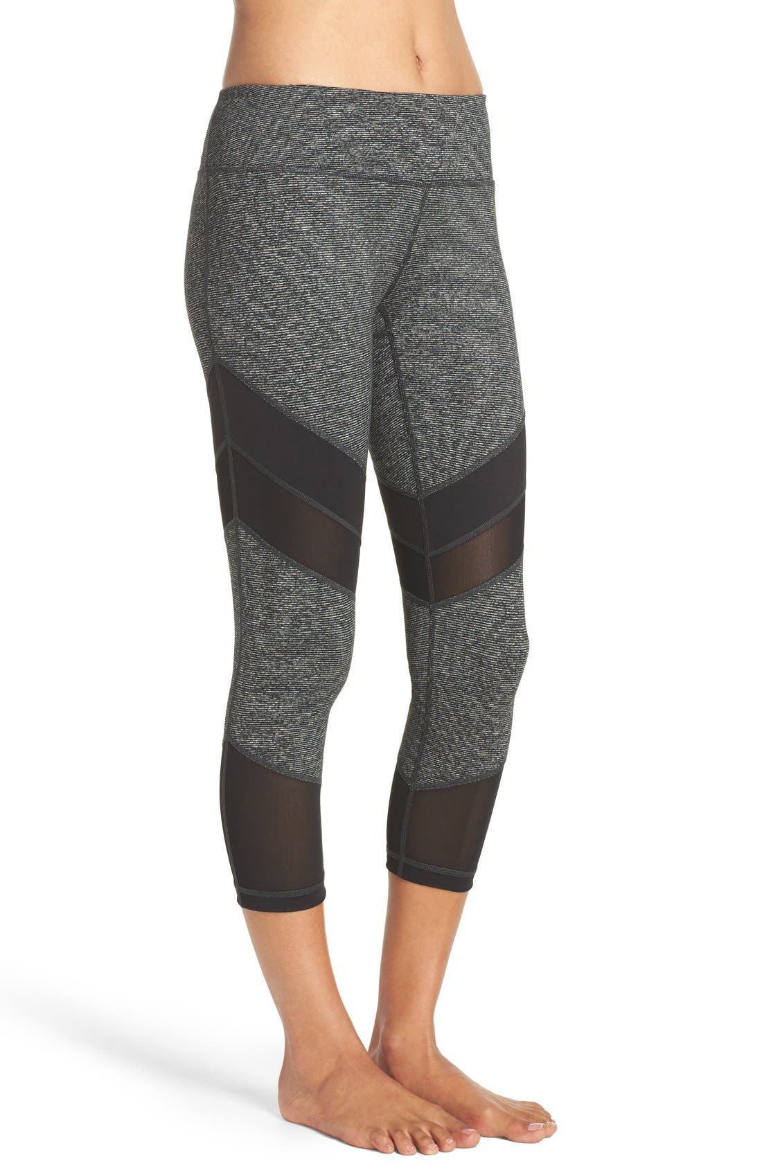 'Live In - Electric Mix' Crop Leggings,                             Alternate thumbnail 2, color,                             001