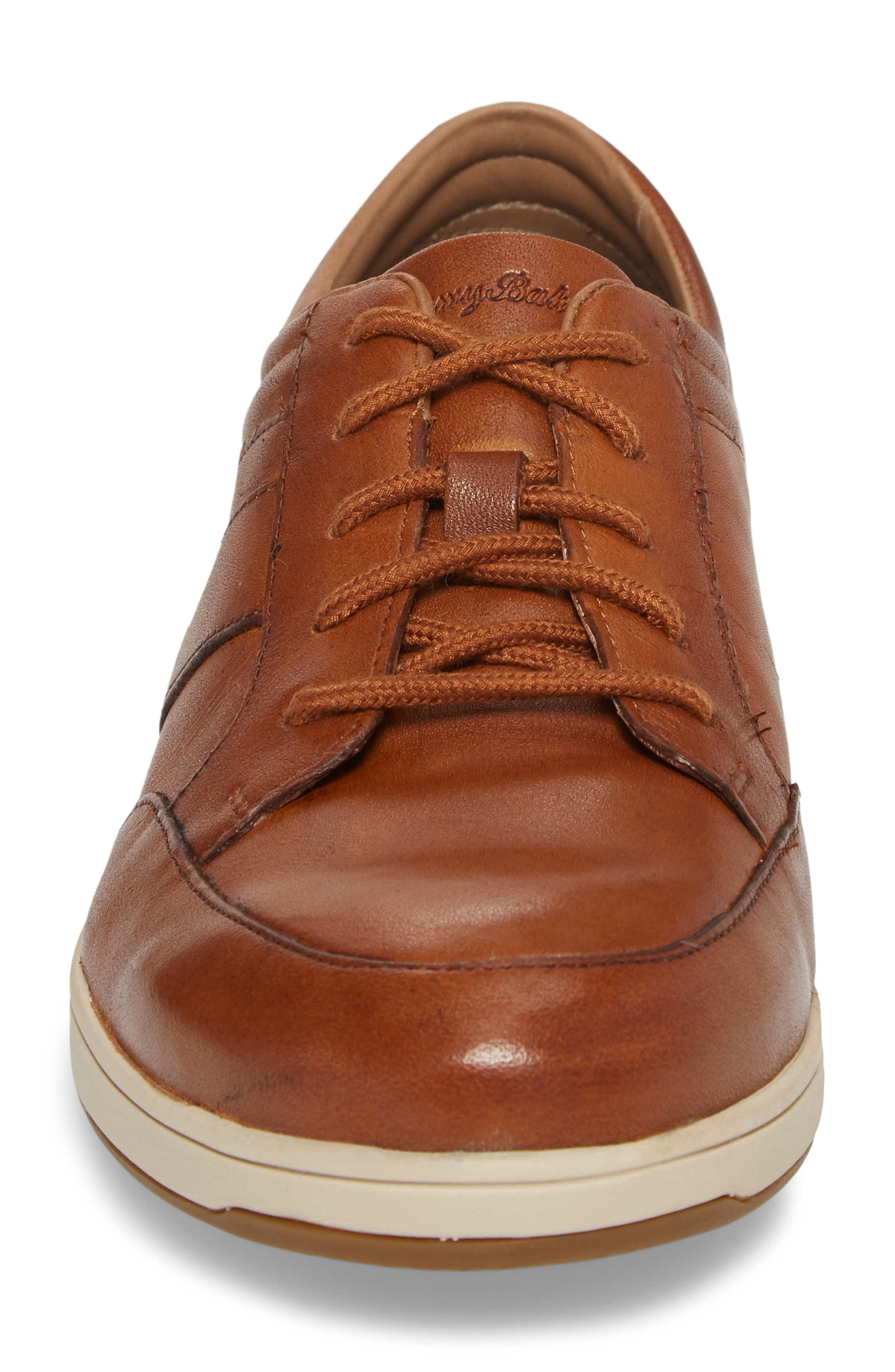 Caicos Authentic Low Top Sneaker,                             Alternate thumbnail 4, color,                             TAN LEATHER