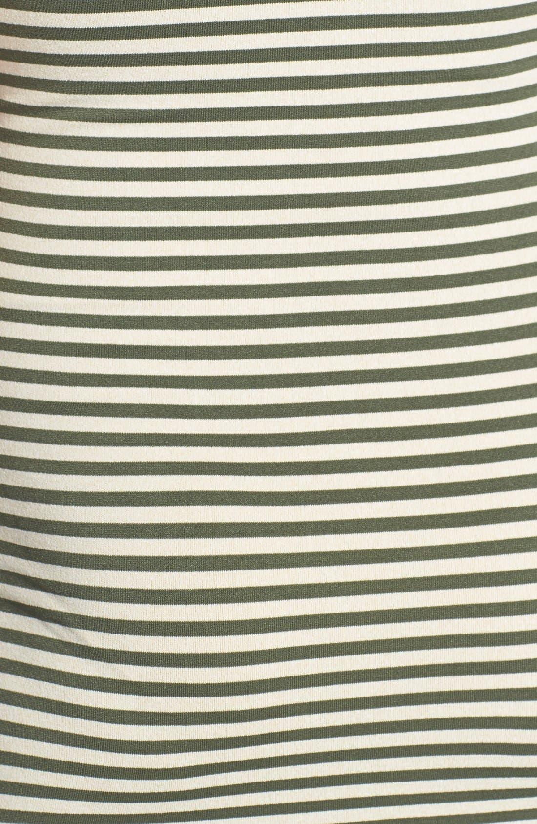 Micro Stripe Maternity Dress,                             Alternate thumbnail 6, color,                             300