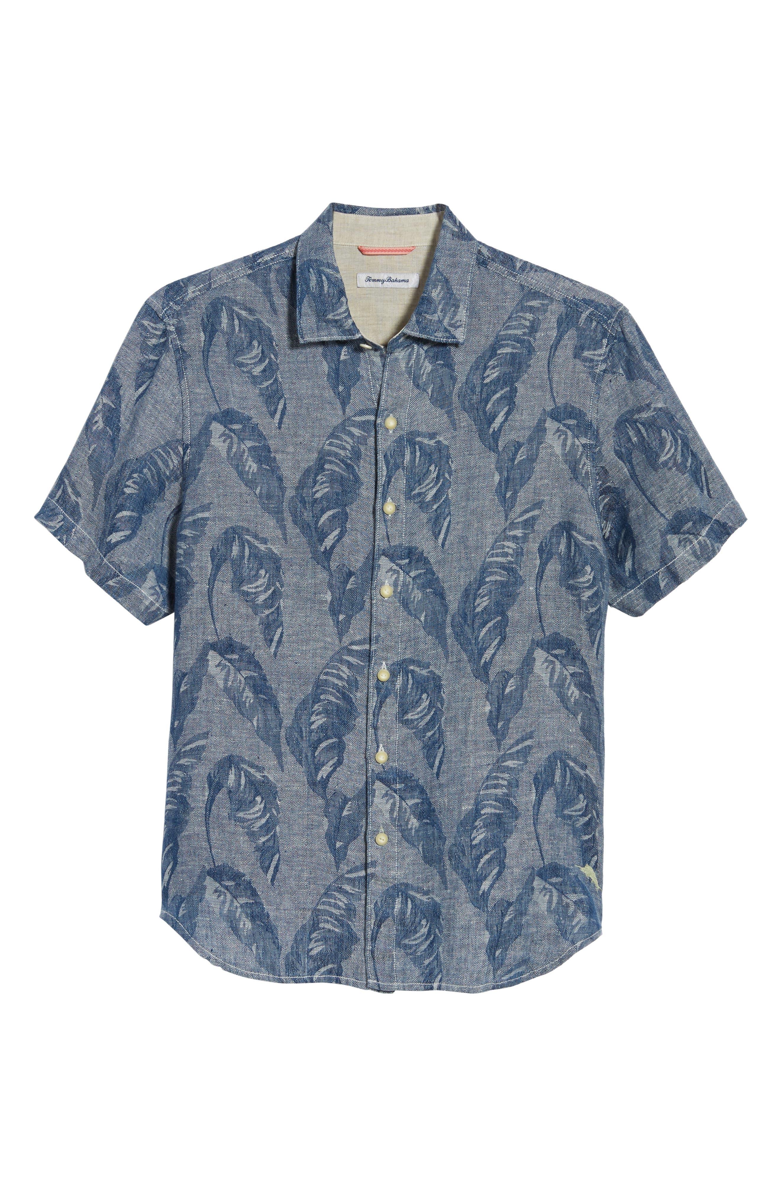 Help Me Fronda Linen Camp Shirt,                             Alternate thumbnail 6, color,                             401