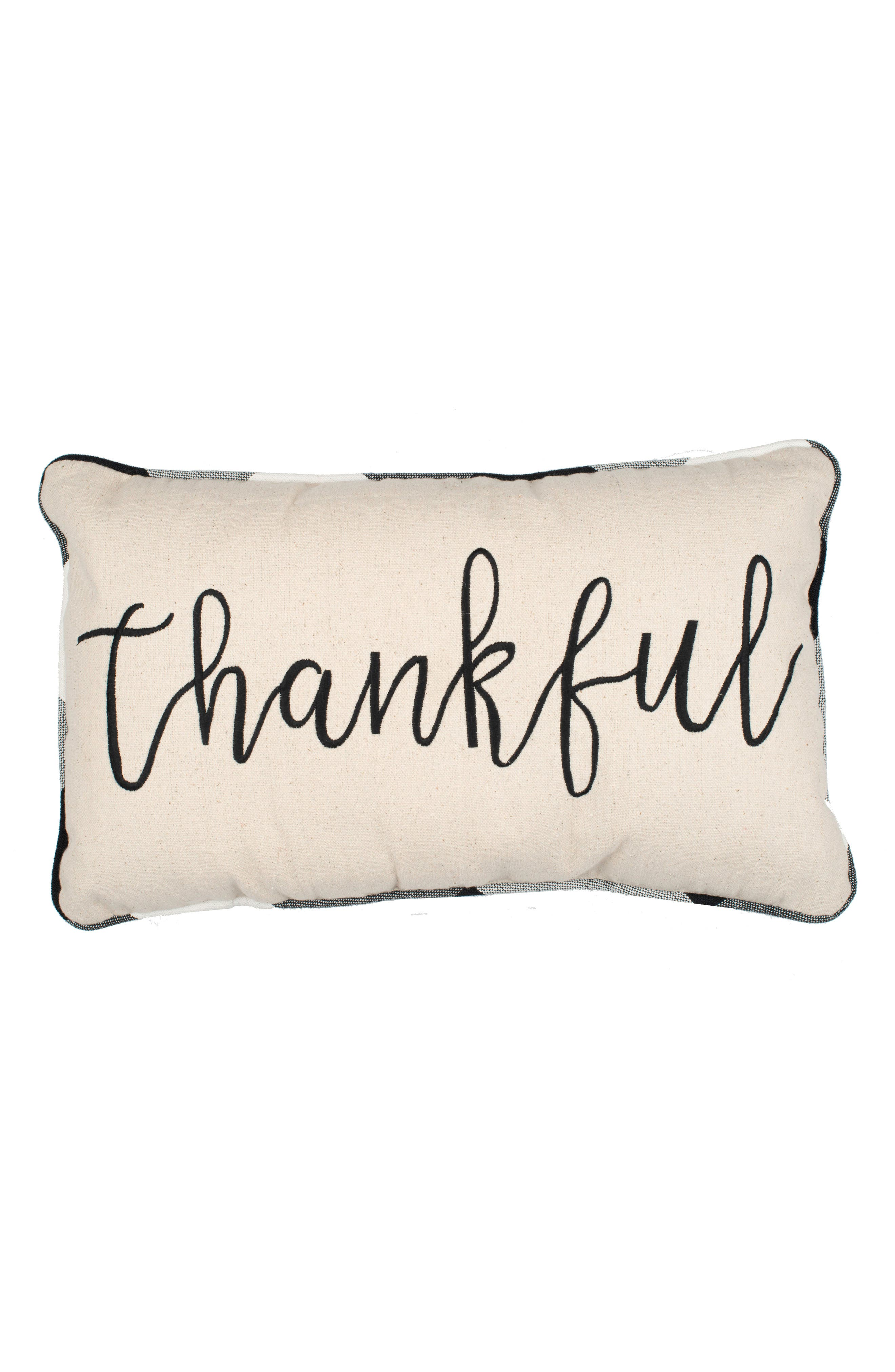 GLORY HAUS Thankful Accent Pillow, Main, color, 900