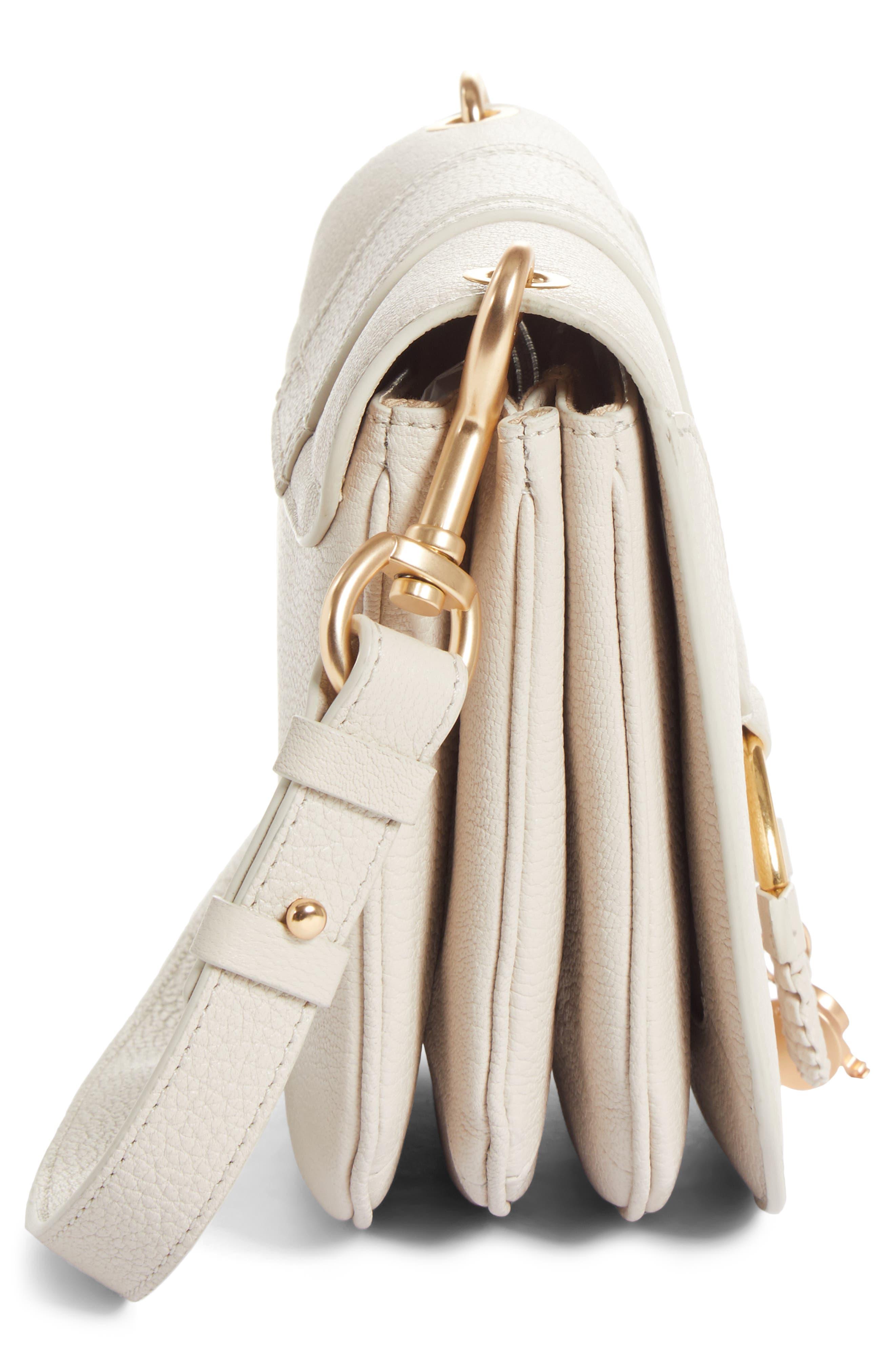 Hana Small Leather Crossbody Bag,                             Alternate thumbnail 28, color,