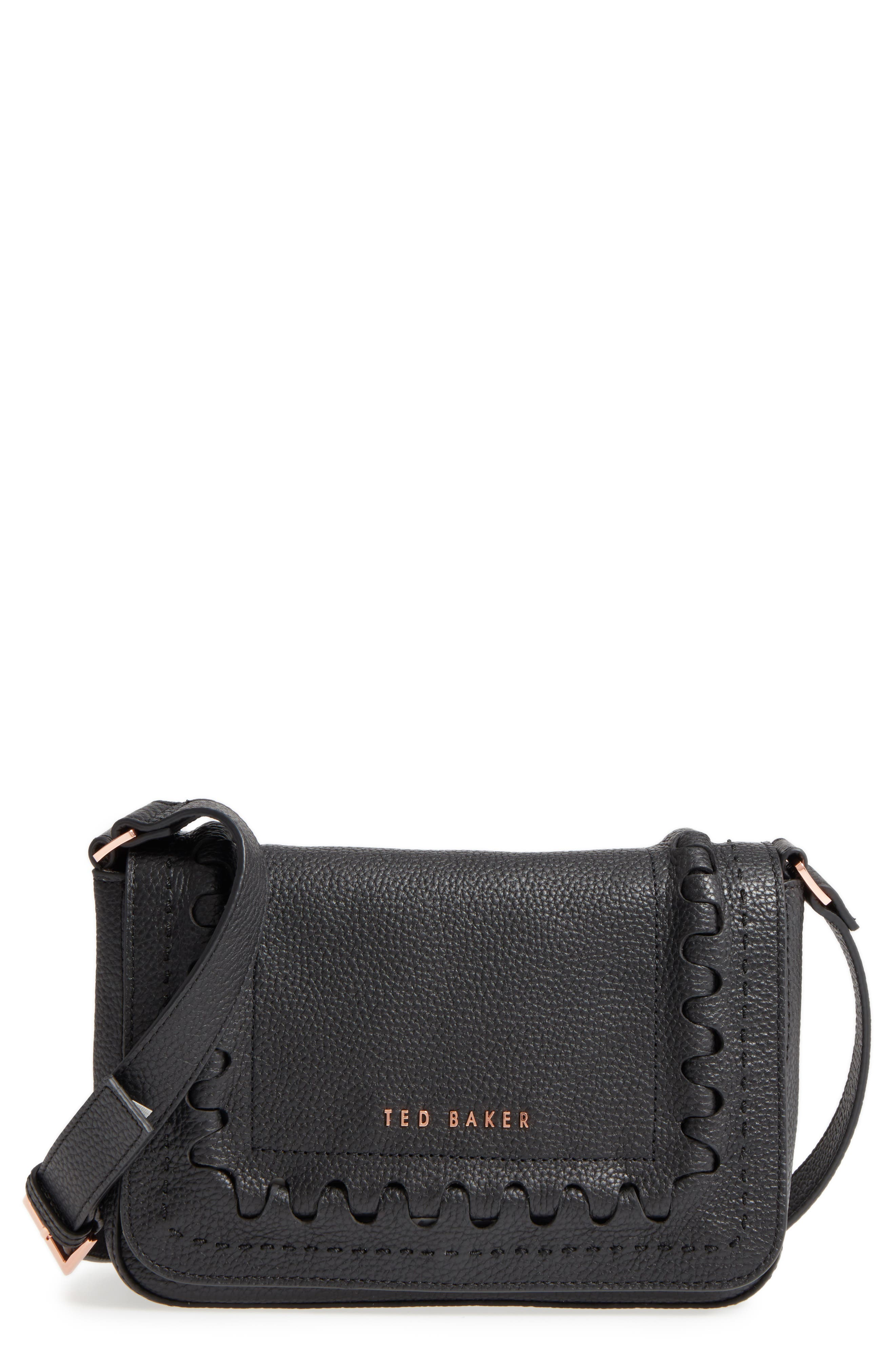 Tippi Leather Crossbody Bag,                             Main thumbnail 1, color,                             001