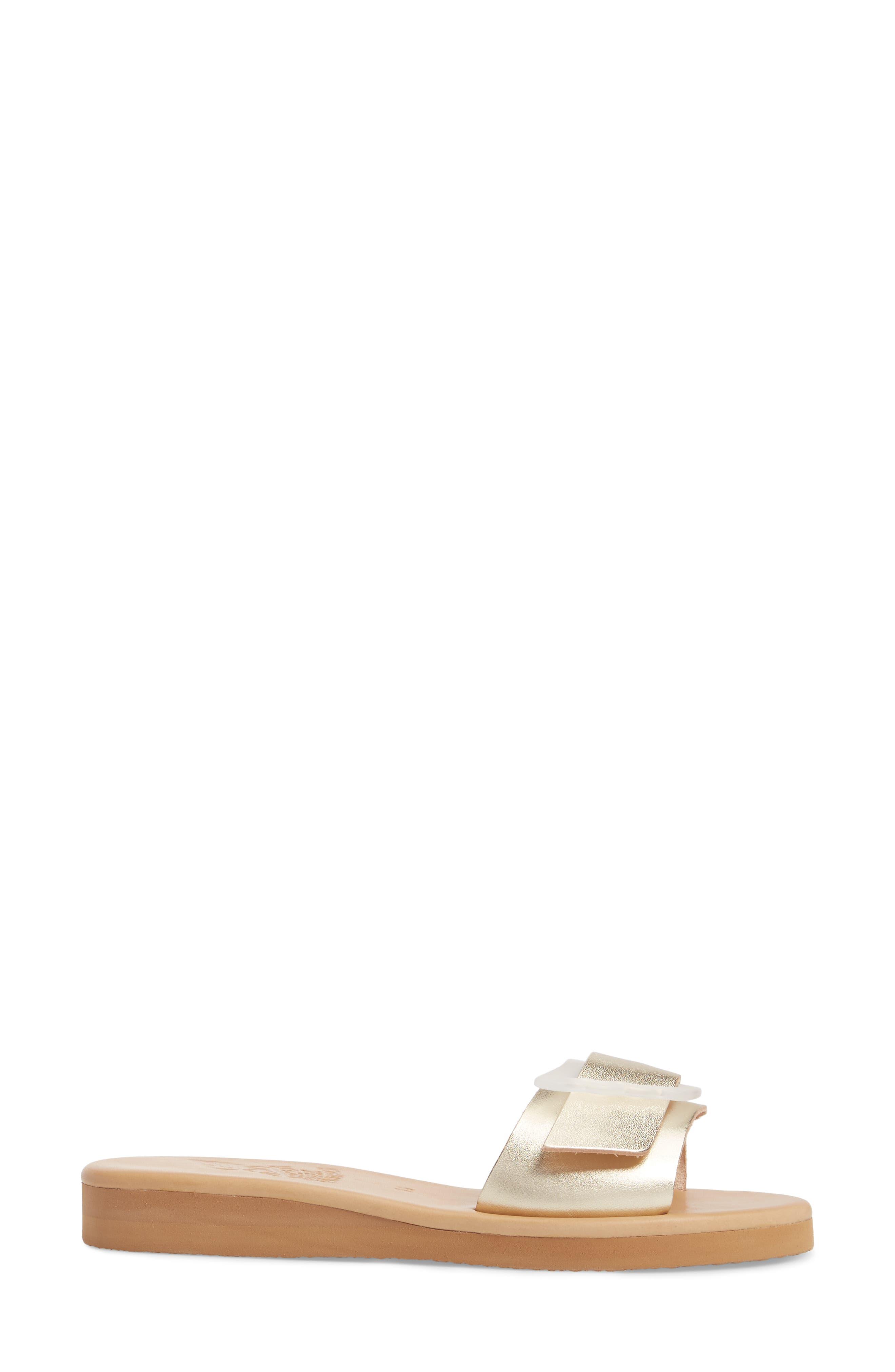 Aglaia Slide Sandal,                             Alternate thumbnail 3, color,                             PLATINUM