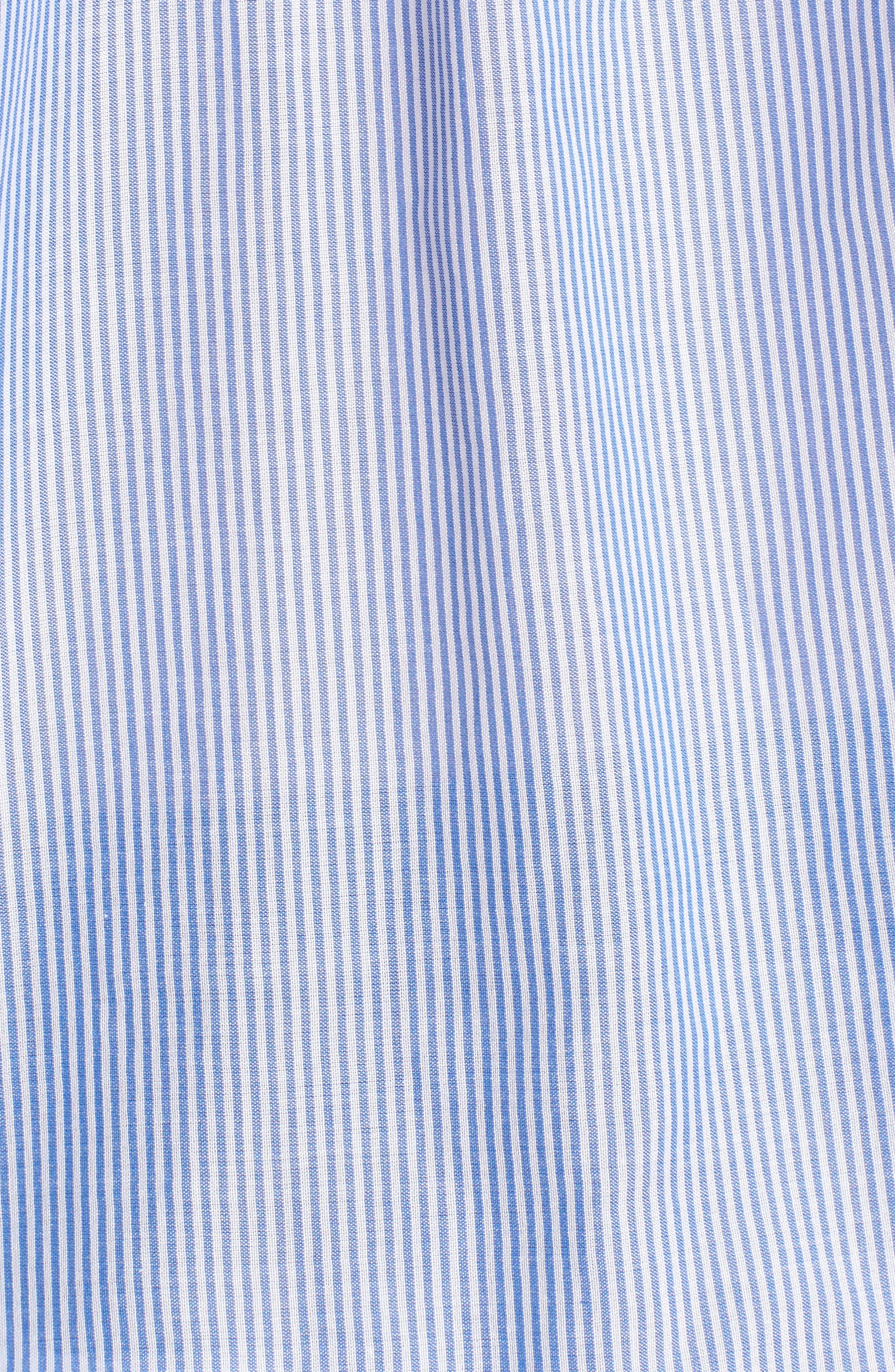 Ruched Sleeve Stripe Shirt,                             Alternate thumbnail 5, color,