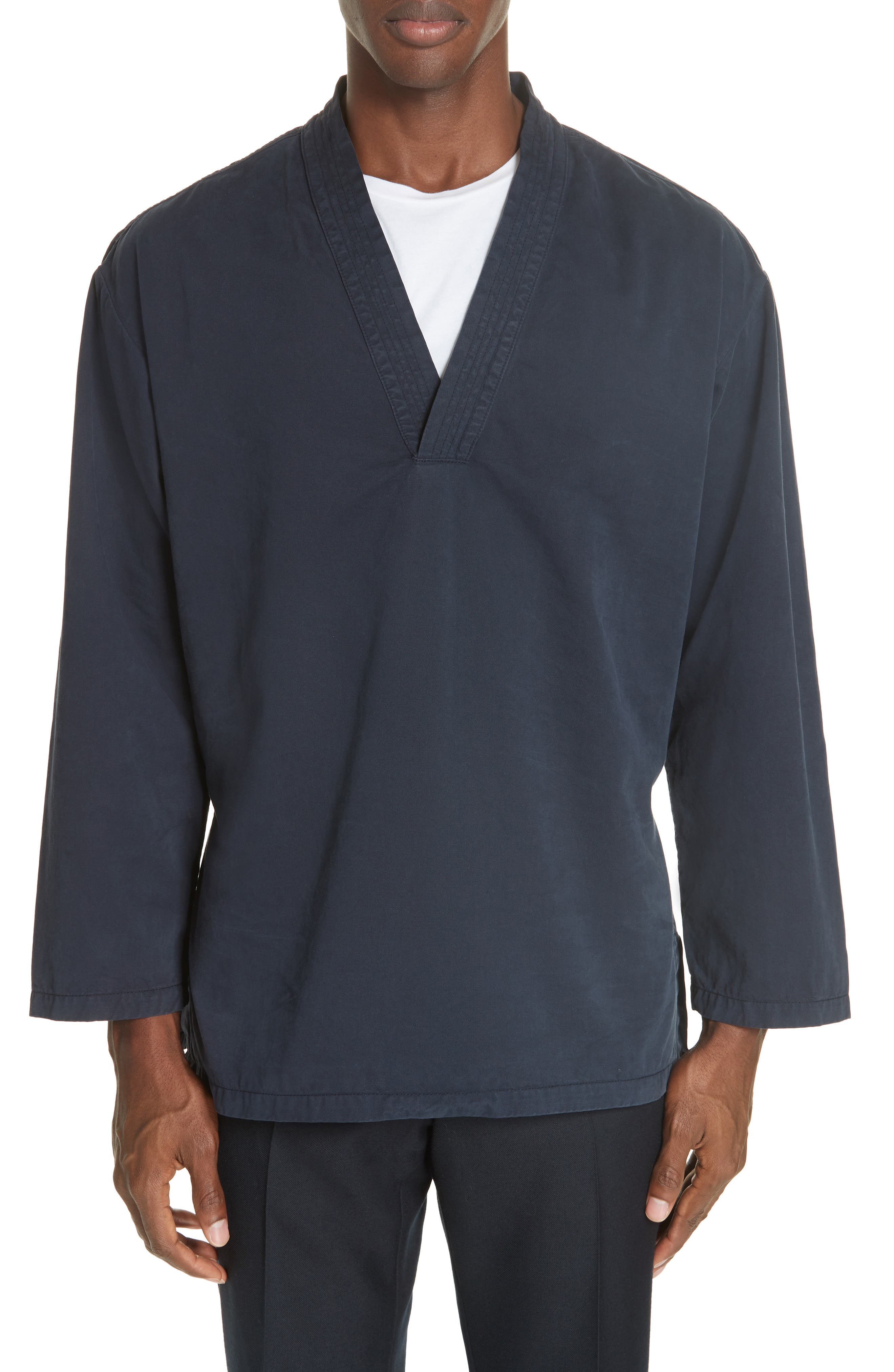 Canis Bis Kimono Pullover,                         Main,                         color, NAVY 509