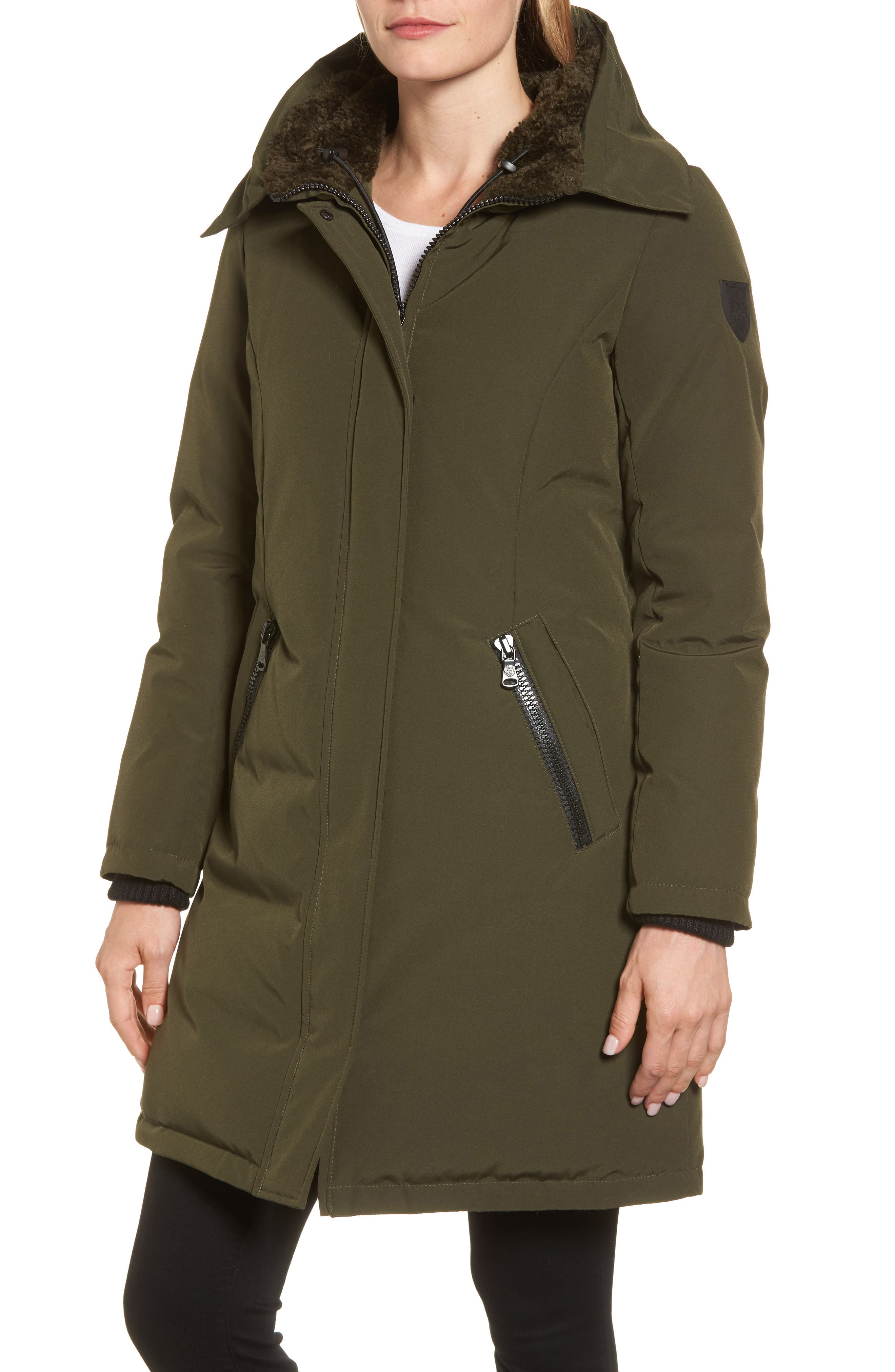 Down & Feather Fill Parka with Faux Fur Trim,                             Alternate thumbnail 20, color,
