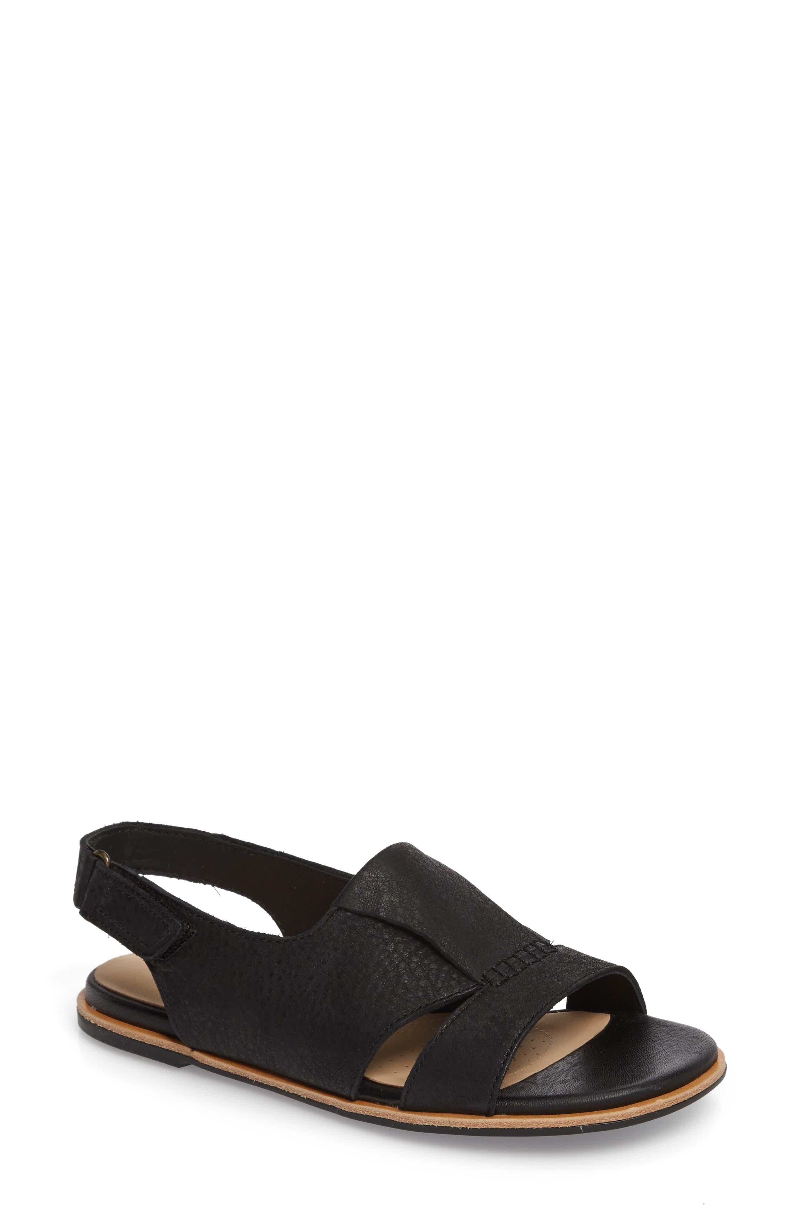 Sultana Rayne Slingback Sandal,                         Main,                         color, BLACK LEATHER