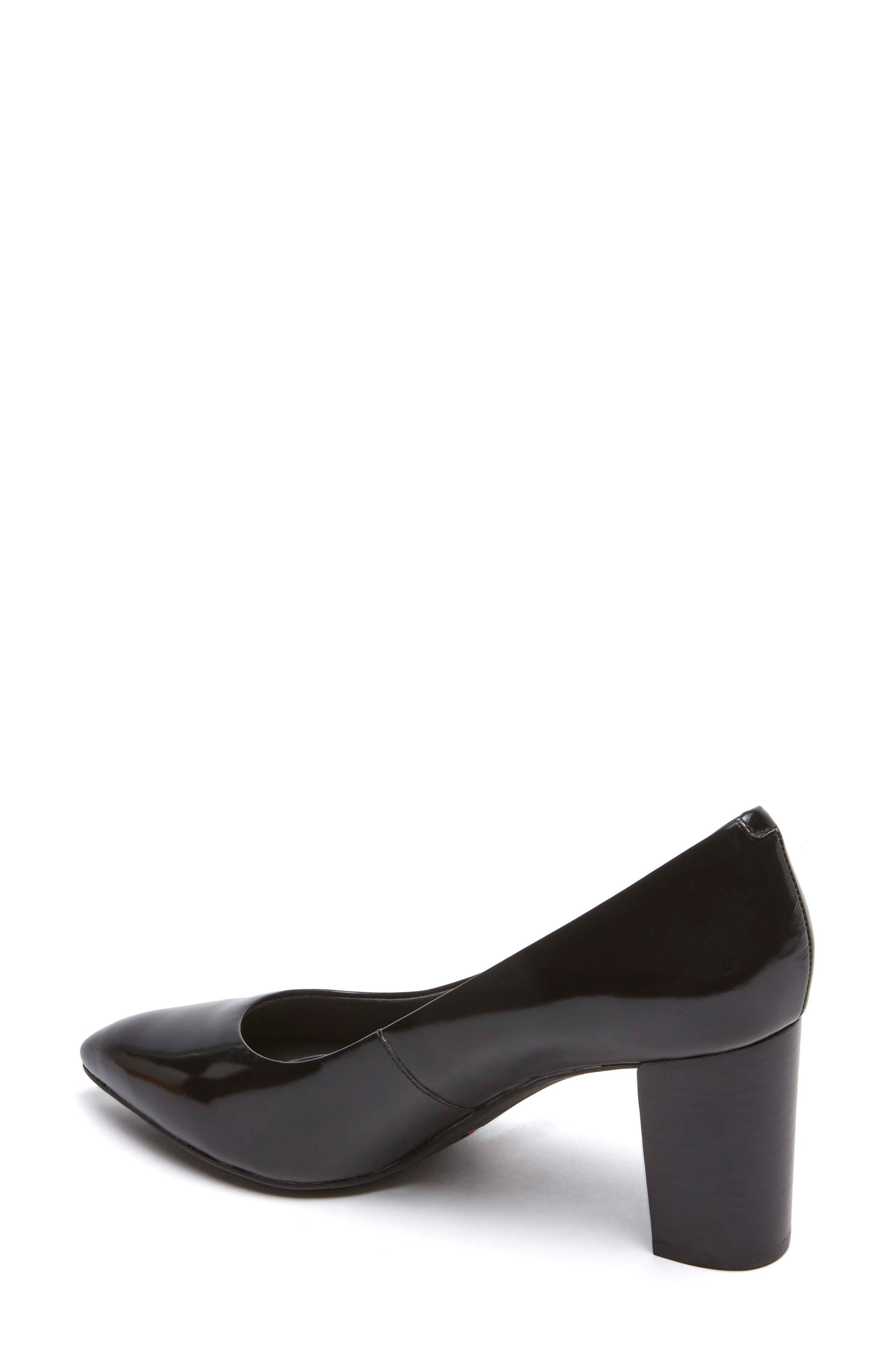 Total Motion Violina Luxe Pointy Toe Pump,                             Alternate thumbnail 2, color,                             BLACK PATENT LEATHER