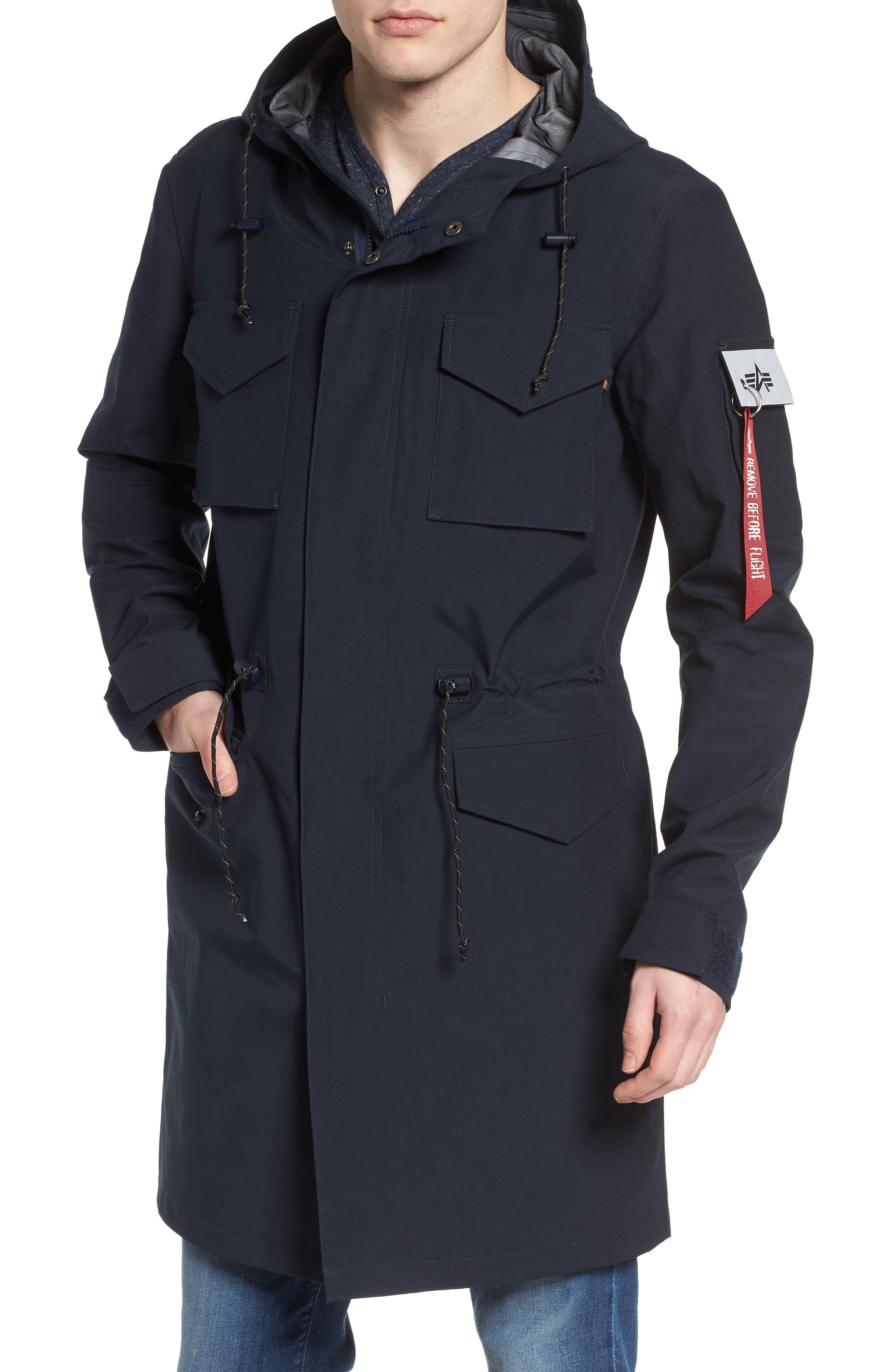 Quartermaster Waterproof Field Coat,                             Alternate thumbnail 4, color,                             410
