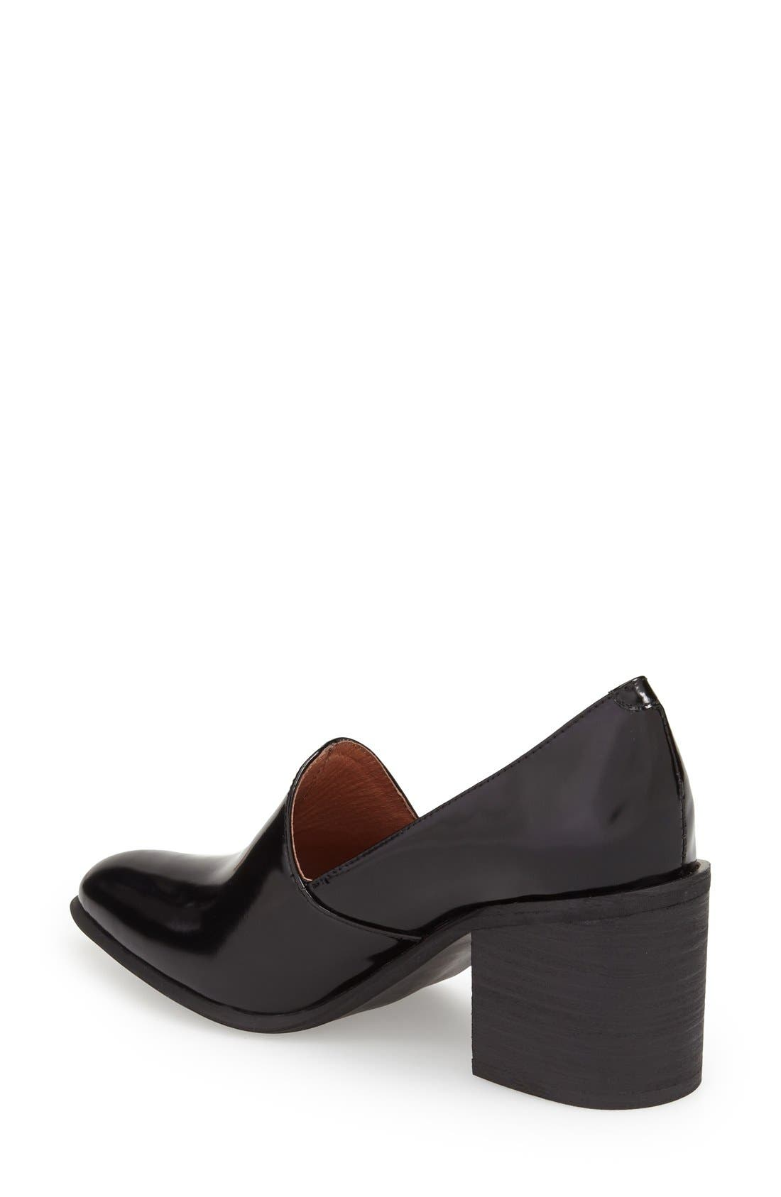 JEFFREY CAMPBELL,                             'Dante' Pointy Toe Loafer Pump,                             Alternate thumbnail 2, color,                             001
