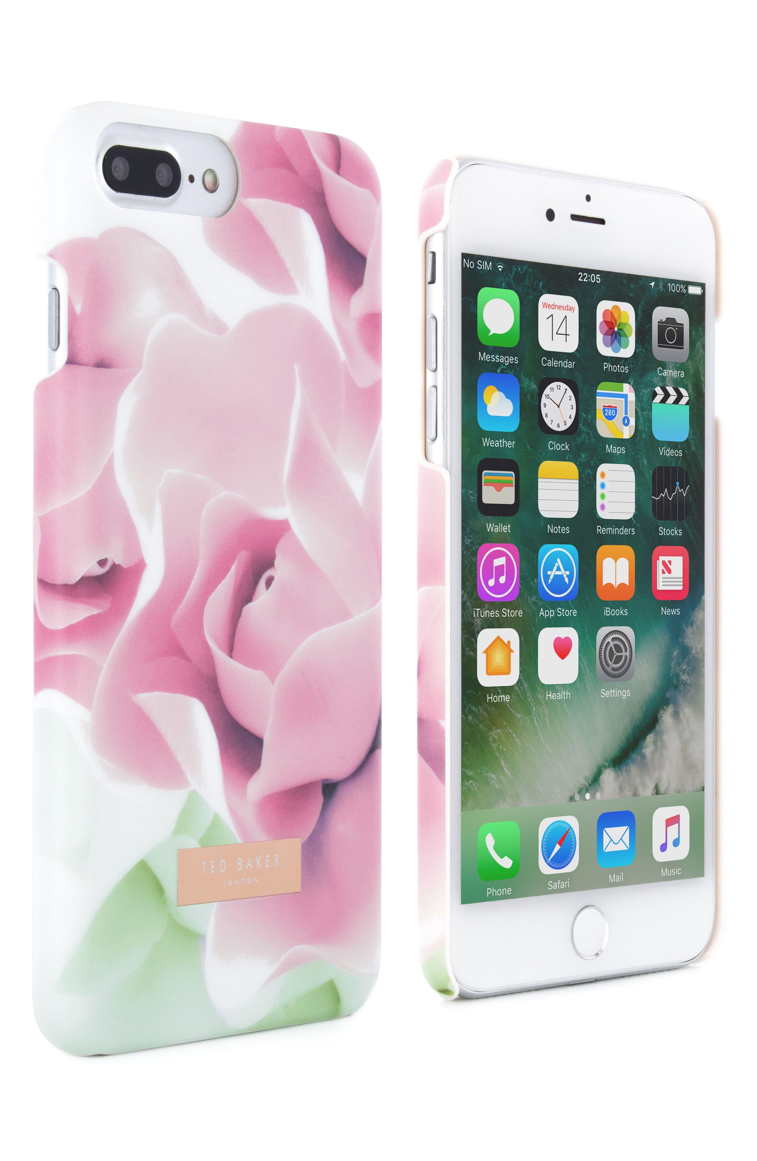 Anotei Rose iPhone 6/6s/7/8 & 6/6s/7/8 Plus Case,                             Alternate thumbnail 2, color,