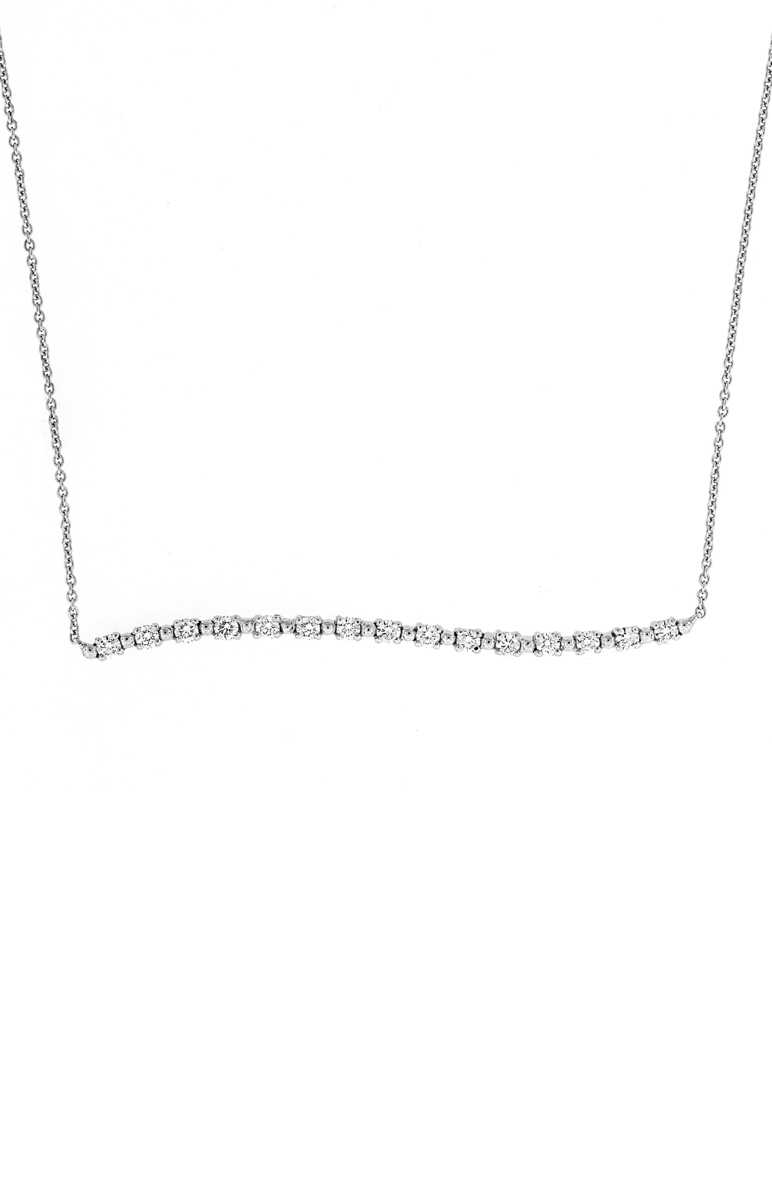 Wavy Bar Diamond Pendant Necklace,                             Alternate thumbnail 6, color,                             711