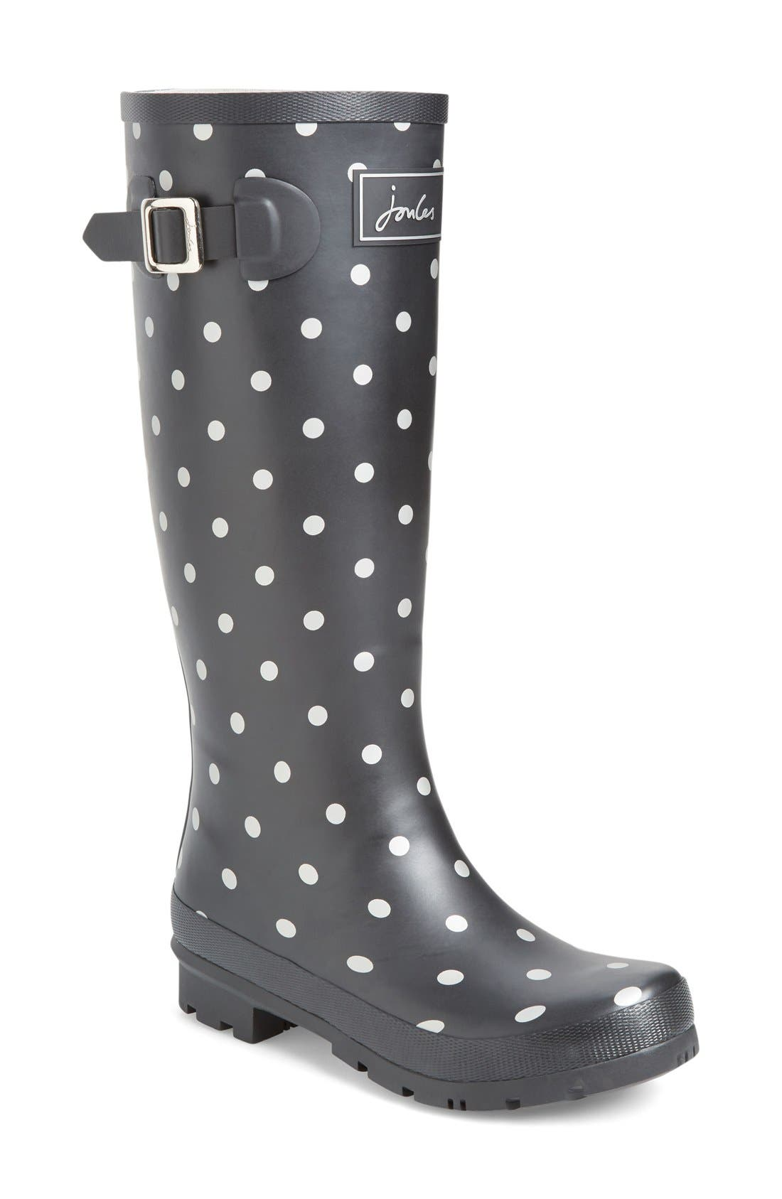 'Welly' Print Rain Boot,                             Main thumbnail 21, color,