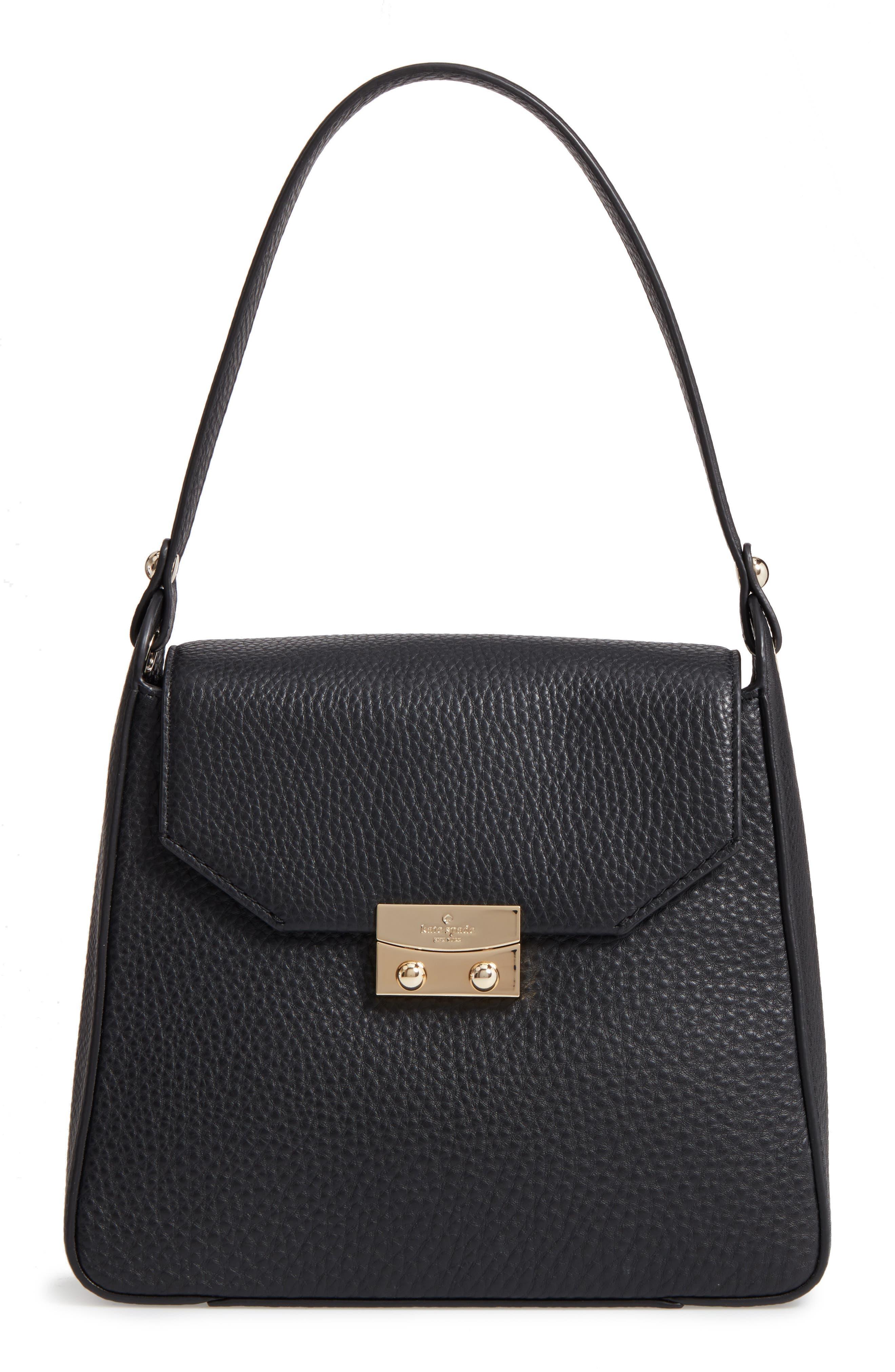 stewart street lynea leather satchel,                             Main thumbnail 1, color,                             001
