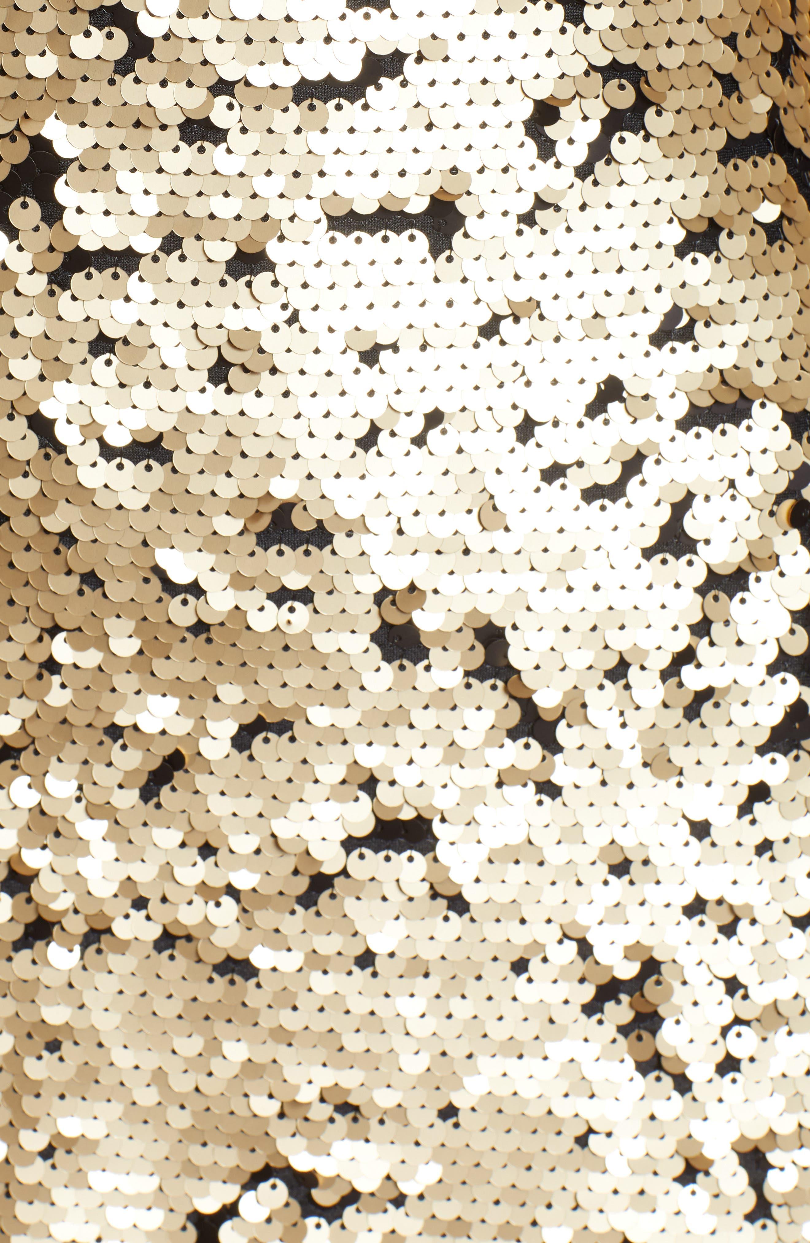 Sequin Babydoll Dress,                             Alternate thumbnail 6, color,                             710