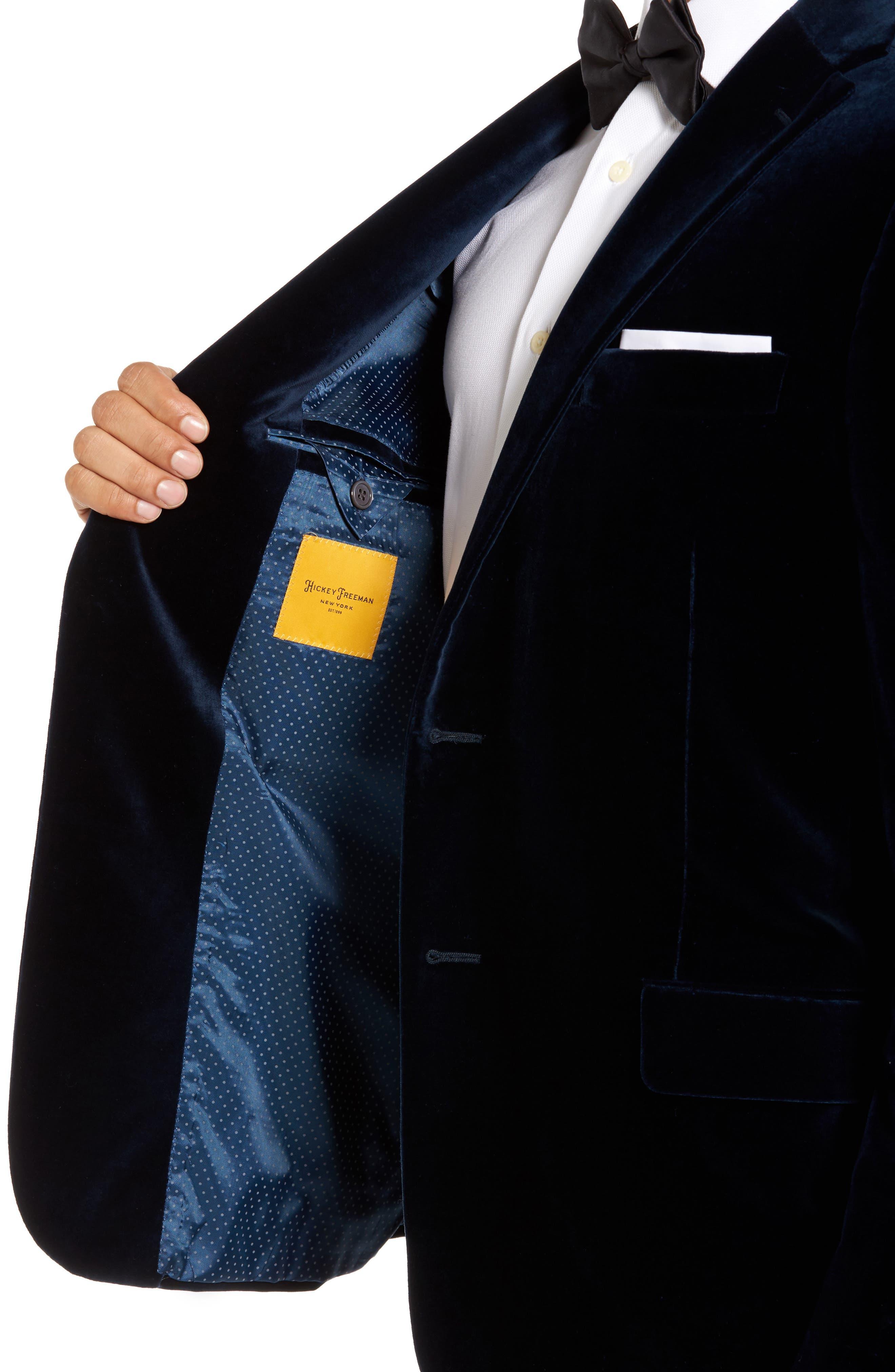 Classic B Fit Stretch Velvet Dinner Jacket,                             Alternate thumbnail 4, color,