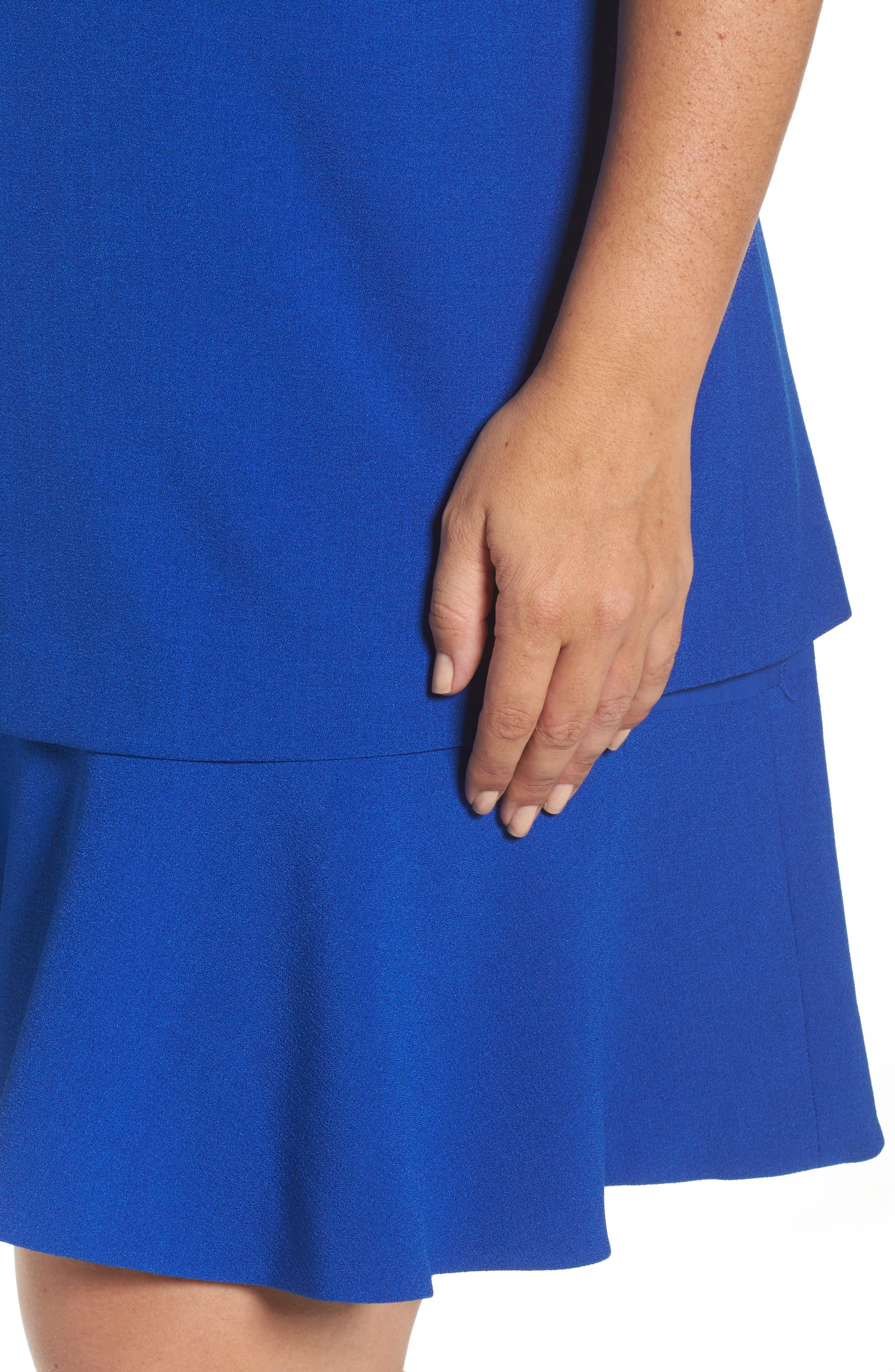 Tiered Drop Waist A-Line Dress,                             Alternate thumbnail 4, color,                             432