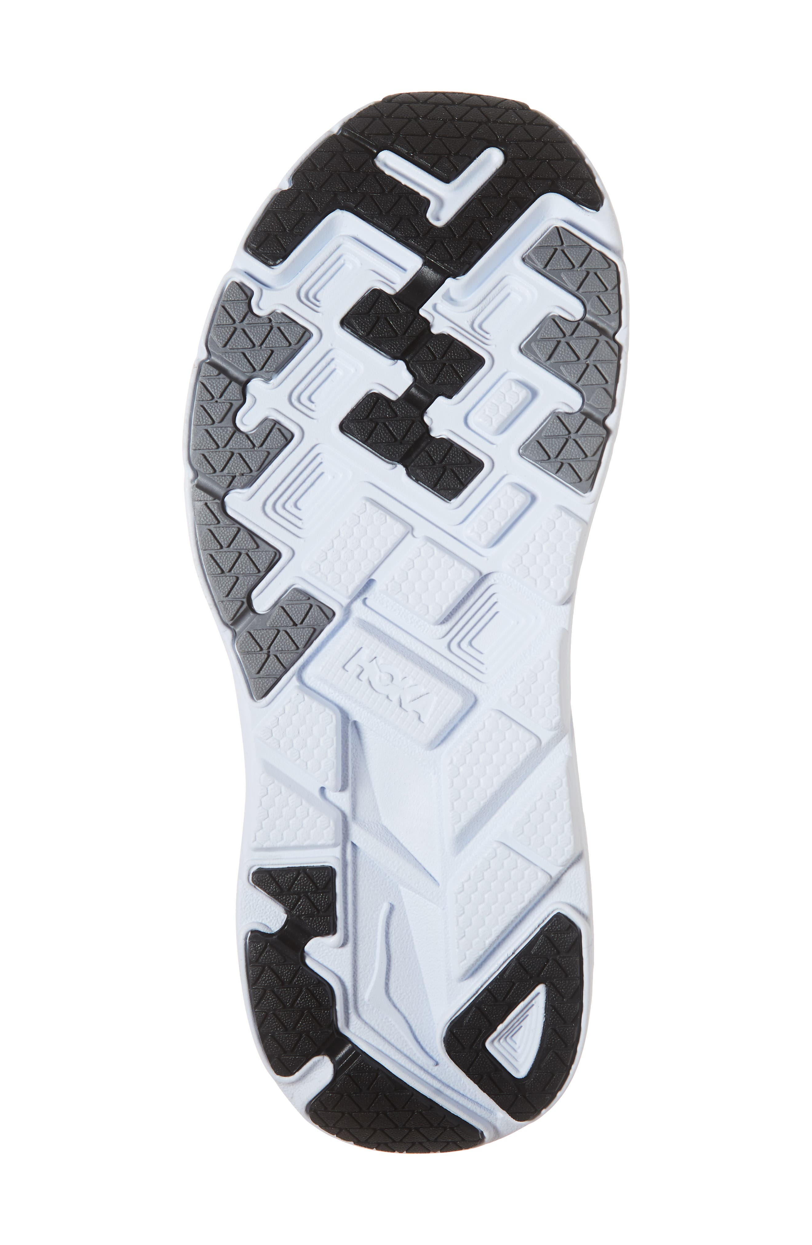Clifton 5 Running Shoe,                             Alternate thumbnail 6, color,                             BLACK/ WHITE