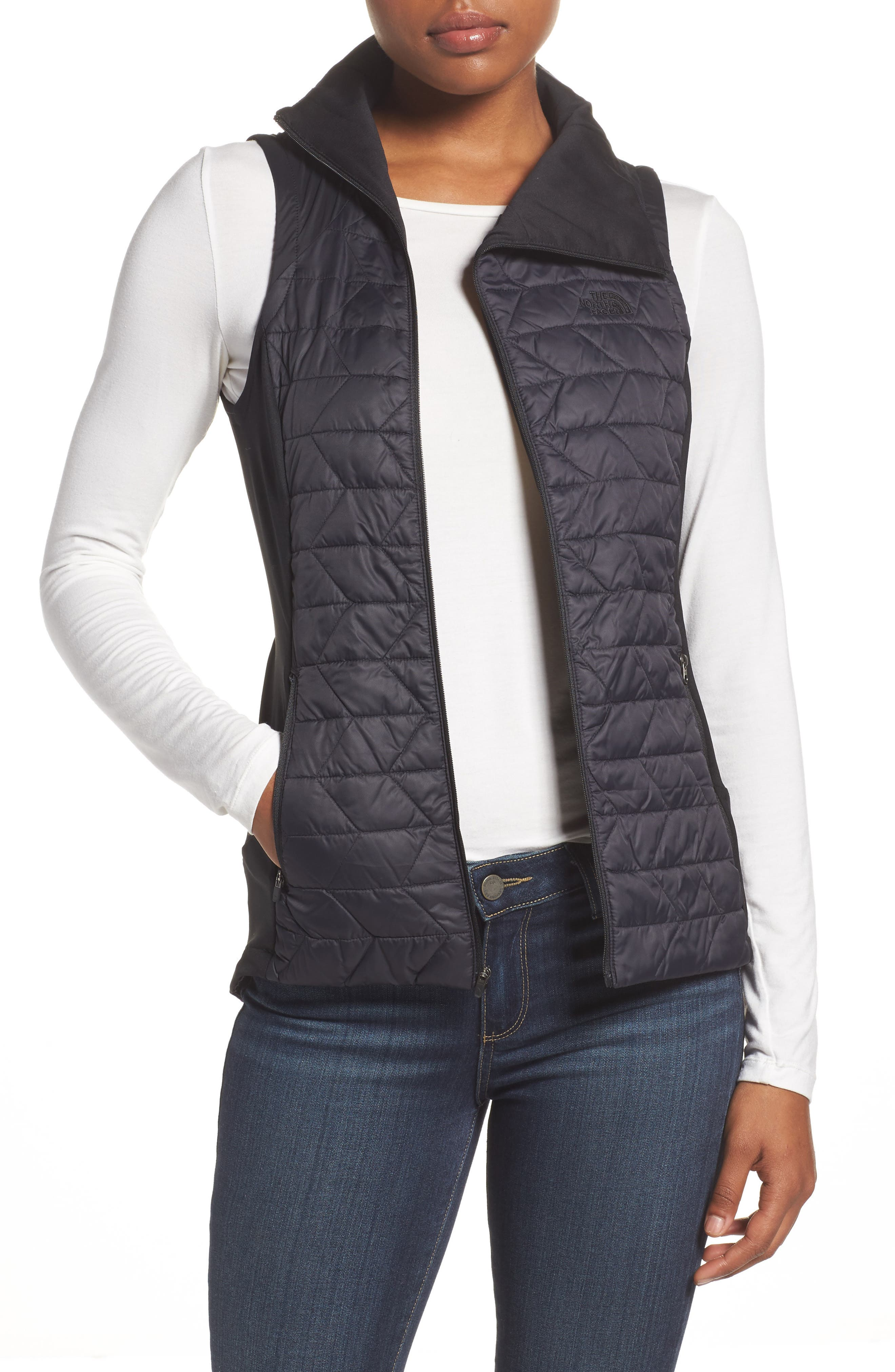 ThermoBall<sup>™</sup> Slim Fit Vest,                         Main,                         color, 001