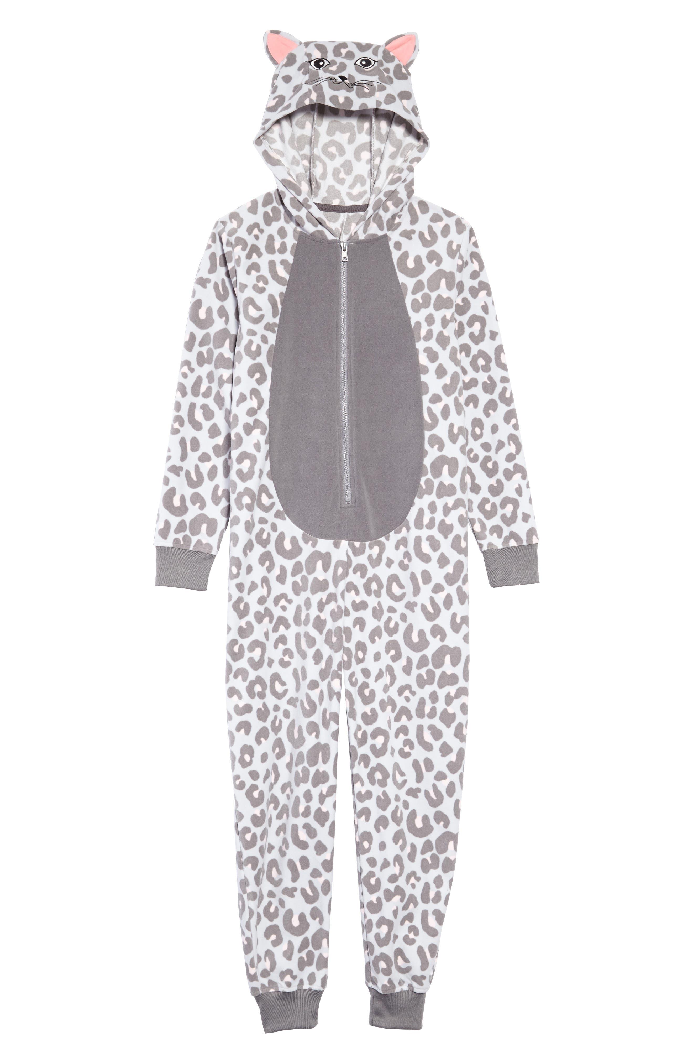 Animal Body Suit,                             Main thumbnail 1, color,                             GREY MICRO CAT
