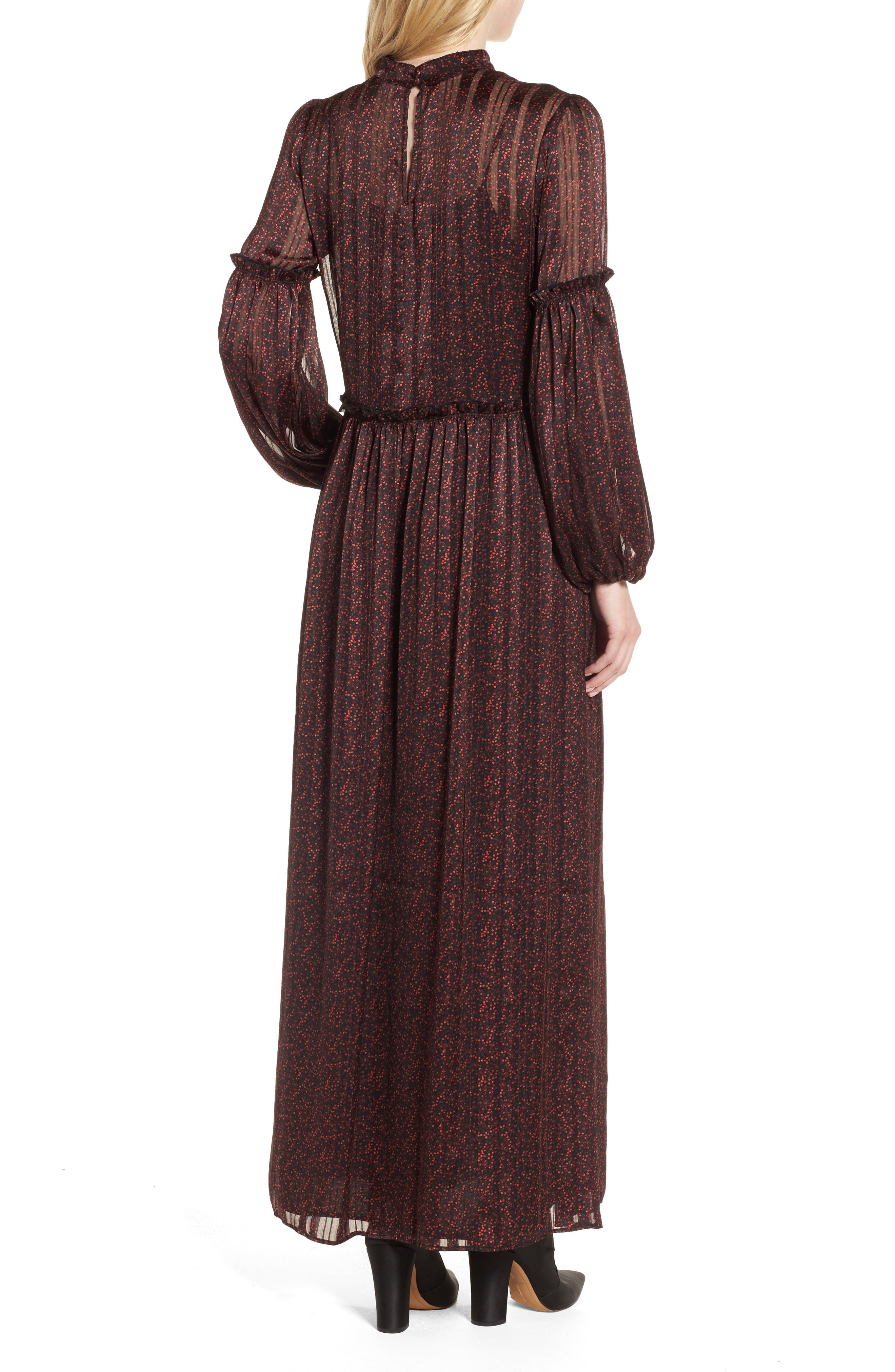 Print Long Dress,                             Alternate thumbnail 2, color,                             600