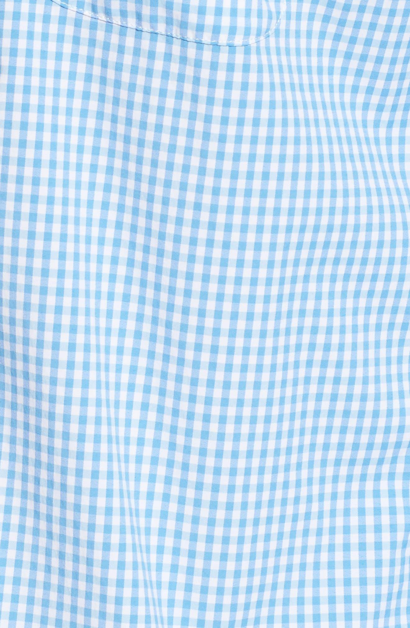 Seawater Gingham Performance Sport Shirt,                             Alternate thumbnail 5, color,                             496