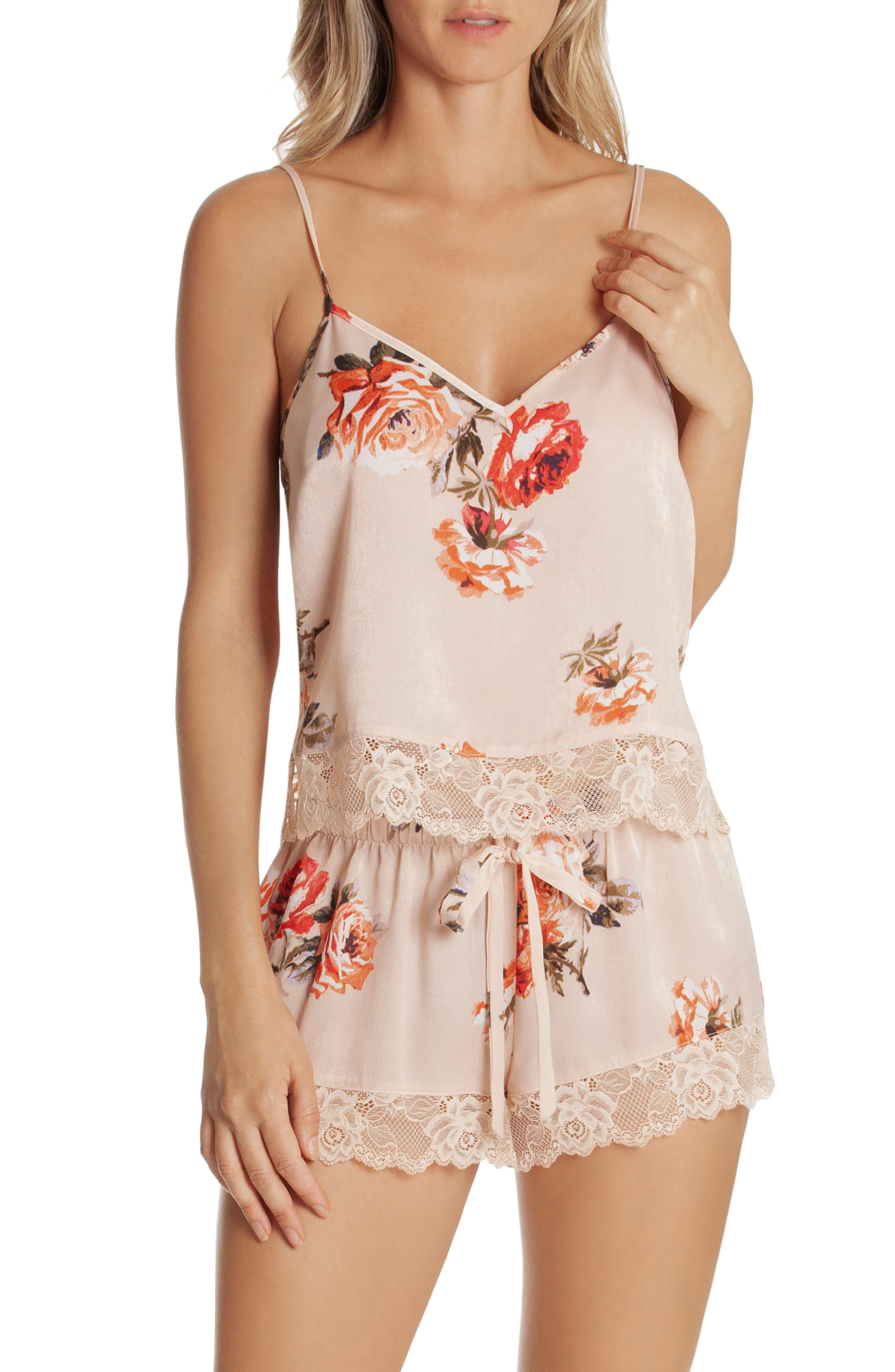In Bloom By Jonquil LACE TRIM SHORT PAJAMAS