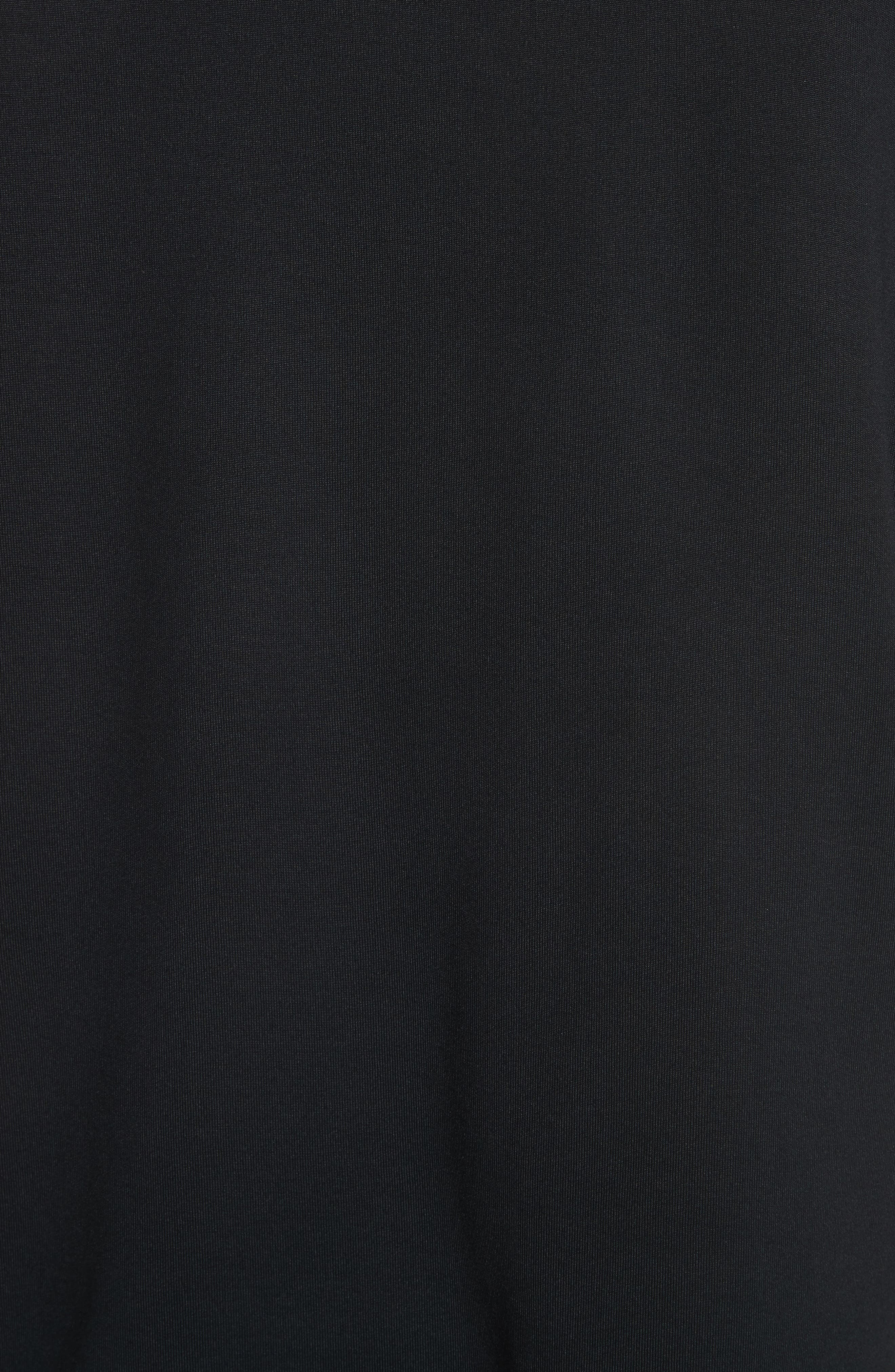 White Stripe Crewneck T-Shirt,                             Alternate thumbnail 5, color,                             001