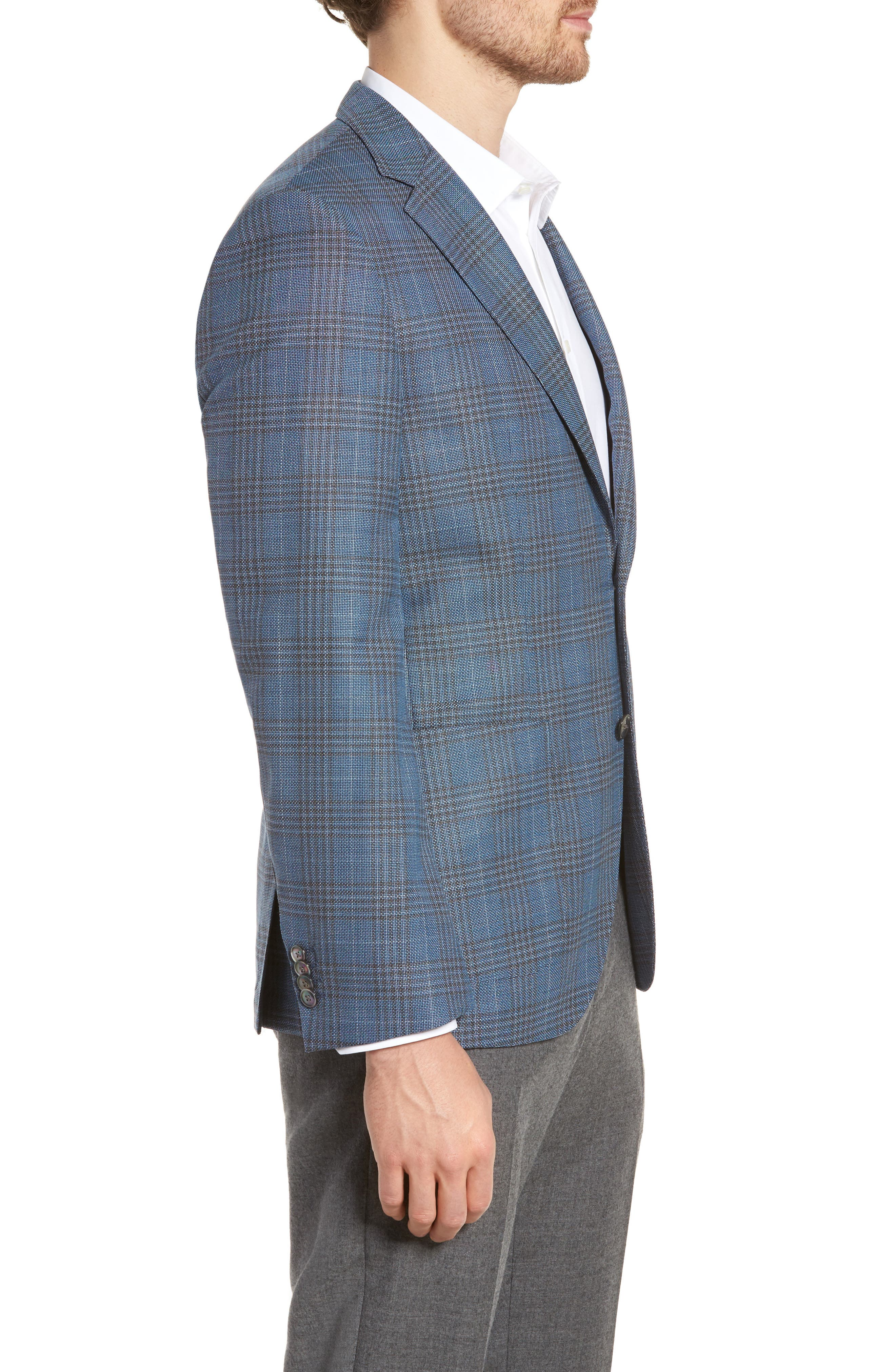 Janson Classic Fit Plaid Wool Sport Coat,                             Alternate thumbnail 3, color,                             473