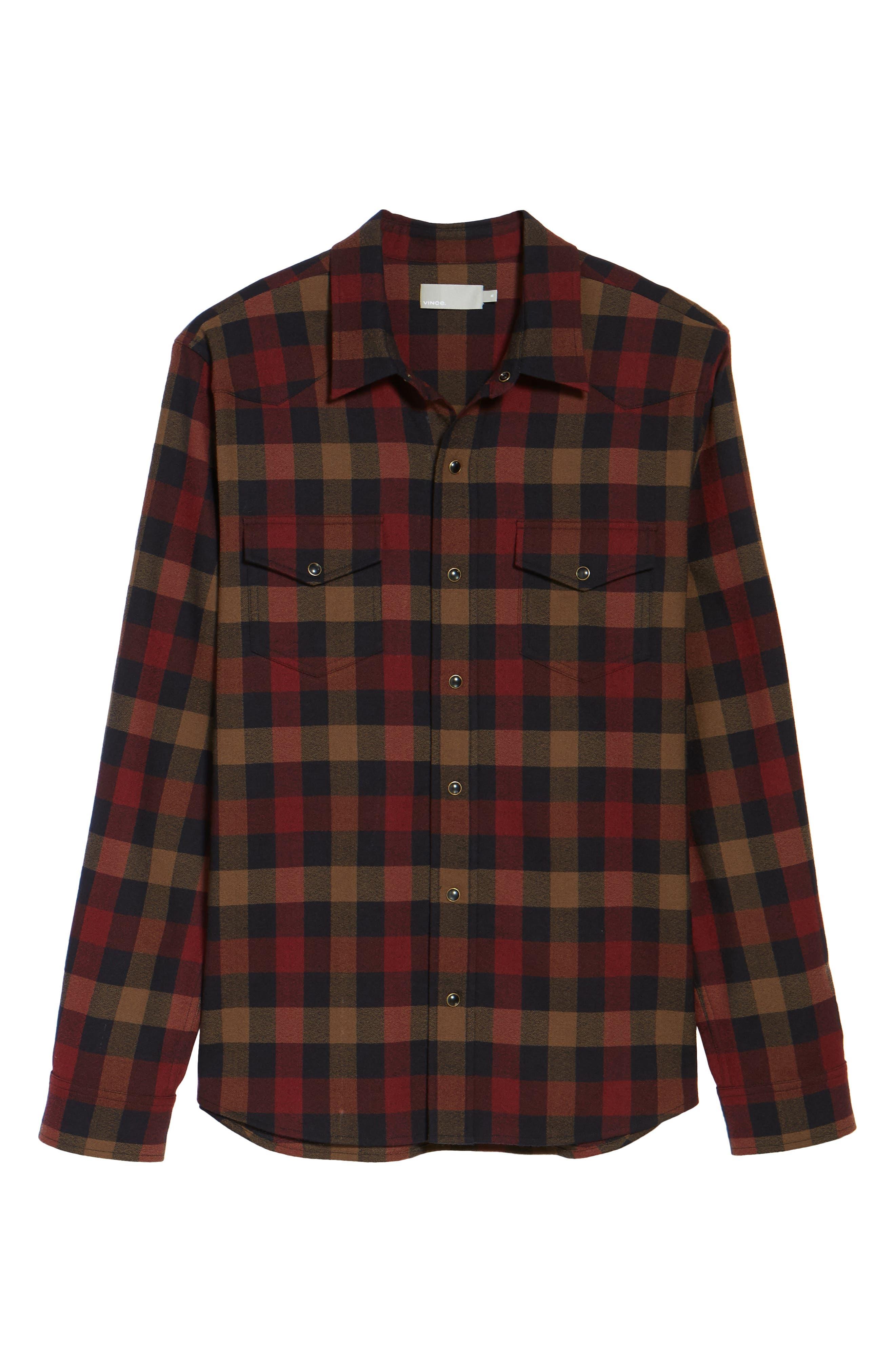 Regular Fit Buffalo Check Sport Shirt,                             Alternate thumbnail 6, color,                             602