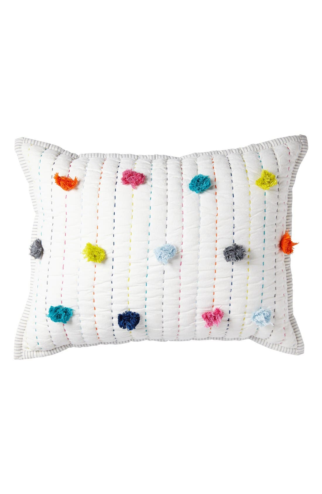 Pompom Pillow,                             Main thumbnail 1, color,                             POM POM