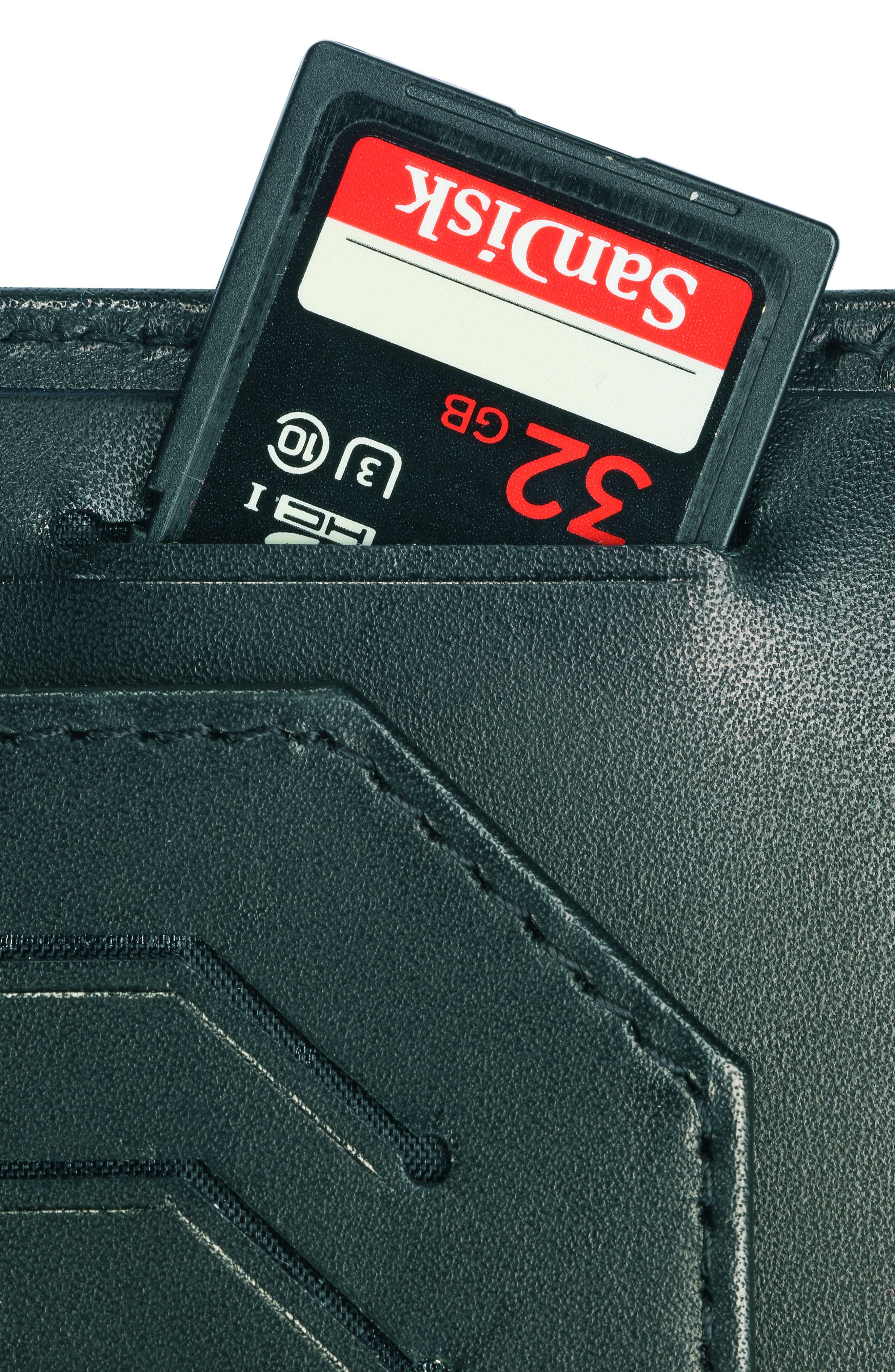 Altius Edge Leibnitz Travel Wallet,                             Alternate thumbnail 3, color,                             BLACK