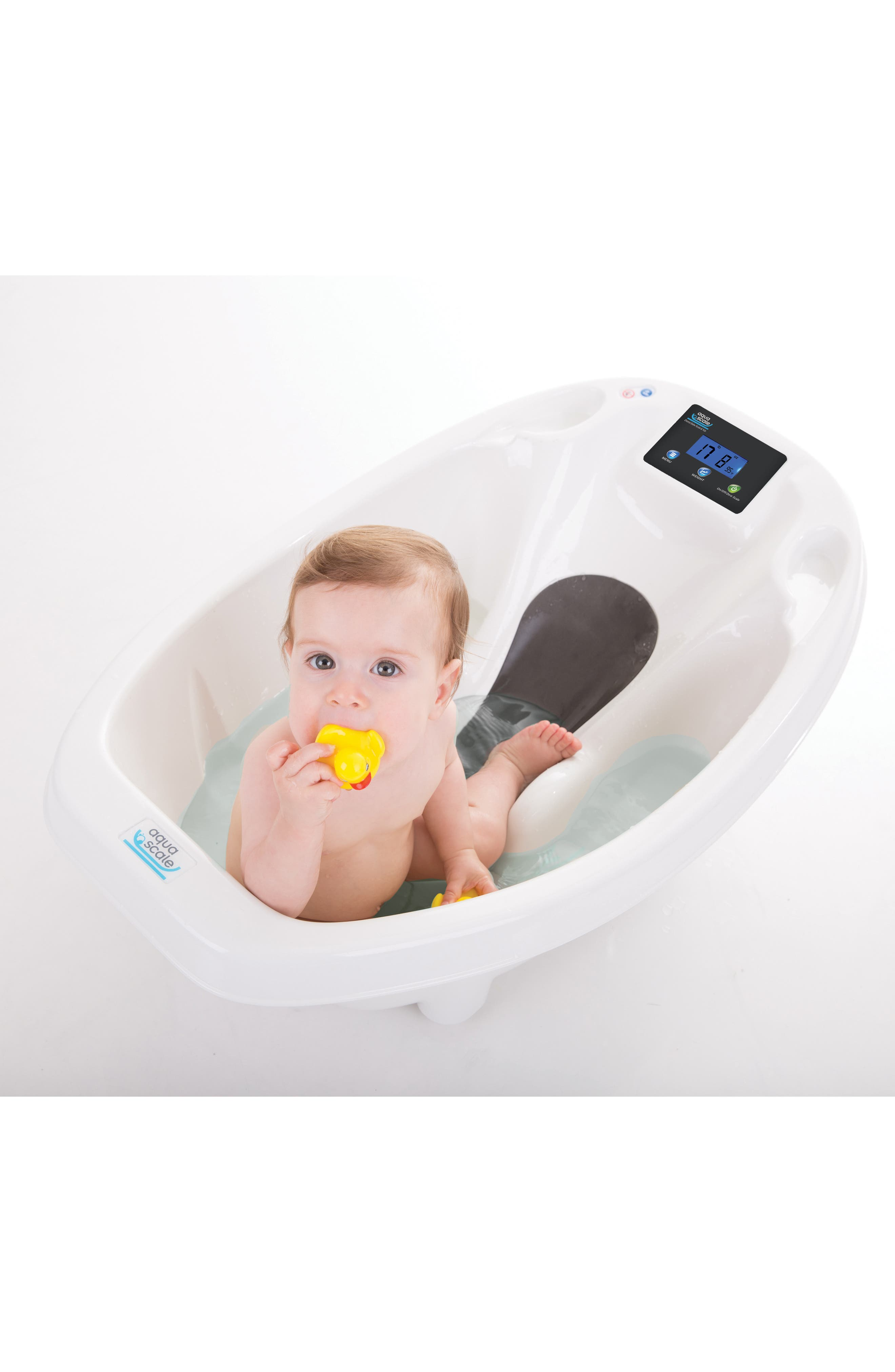Aquascale 3-in-1 Baby Tub/Scale,                             Alternate thumbnail 4, color,                             WHITE