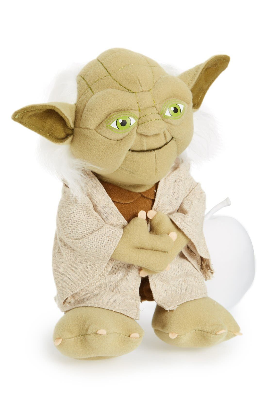 UNDERGROUND TOYS,                             'Talking Yoda' Plush Toy,                             Main thumbnail 1, color,                             000