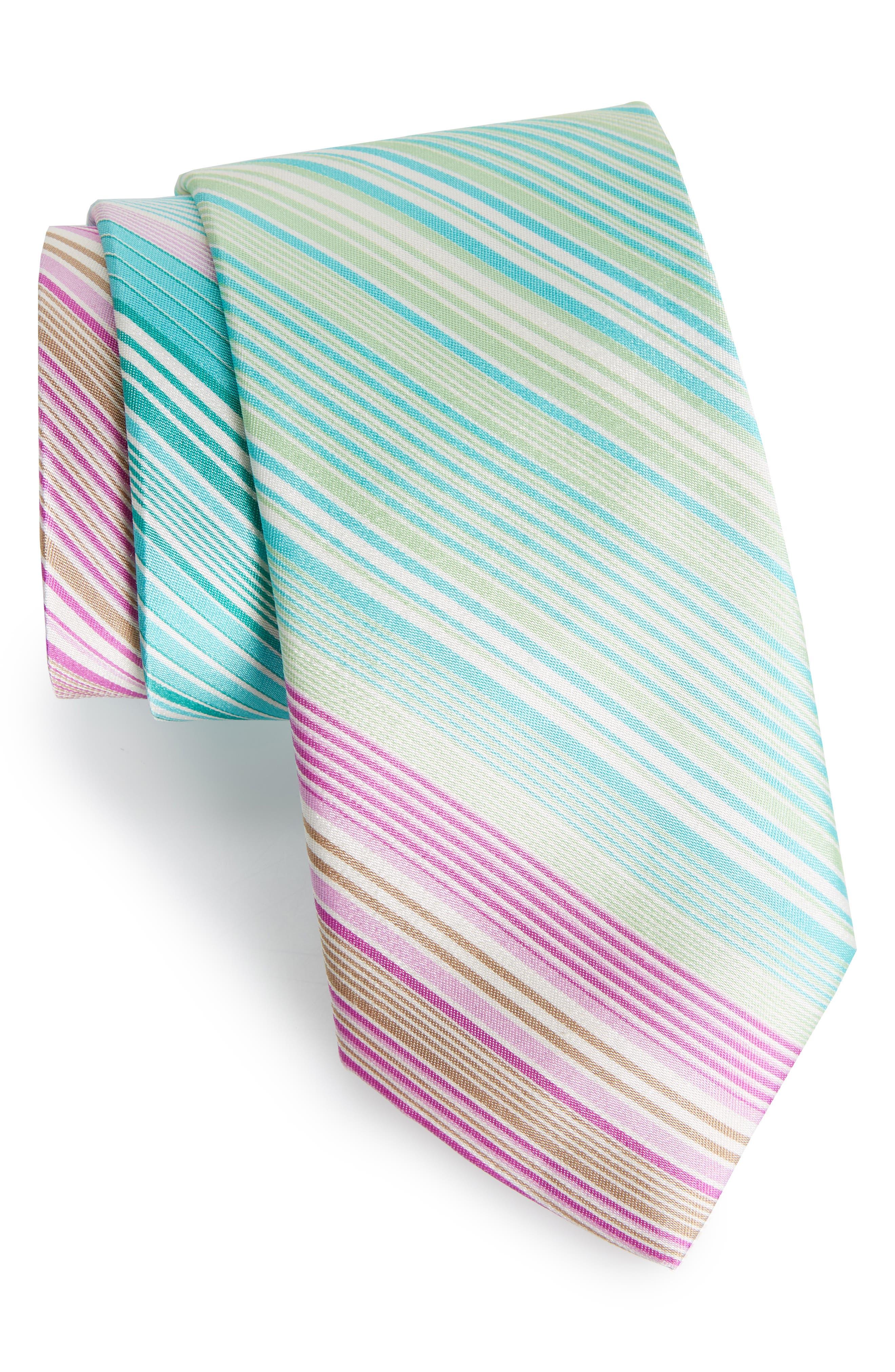 Magnolia Silk Tie,                             Main thumbnail 1, color,                             MINT