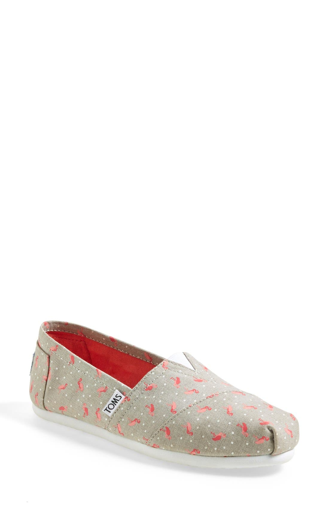 'Classic - Flamingo' Alpargata Slip-On, Main, color, 020