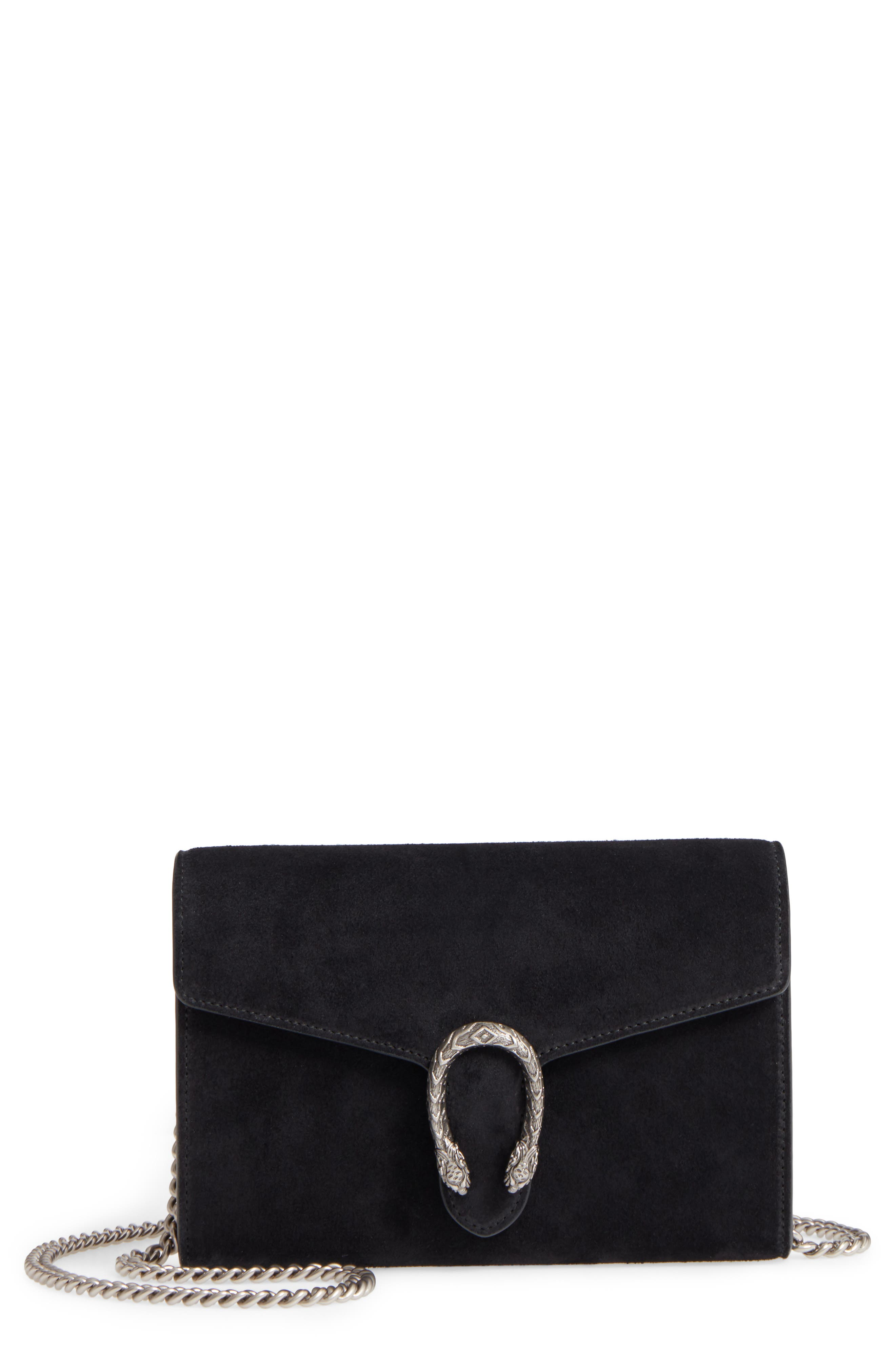 Dionysus Suede Wallet on a Chain,                             Main thumbnail 1, color,